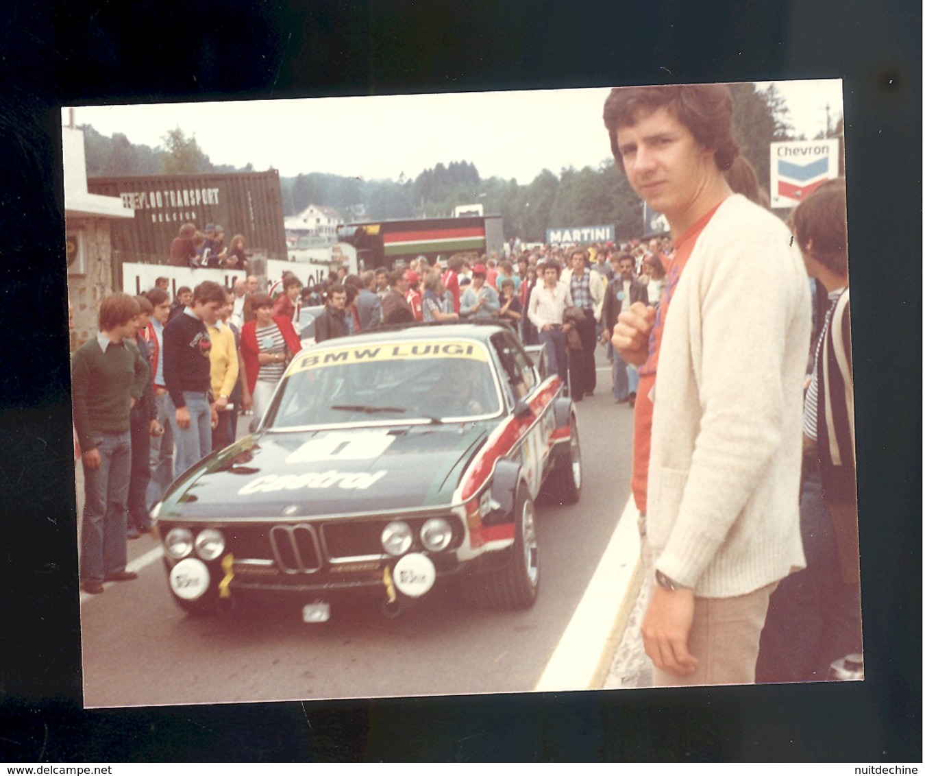 Photo Circuit De Spa 24 Heures Francorchamps 1976  Course Automobile Voiture Luigi Cimarosti  BMW 3.0 CSL - Auto's