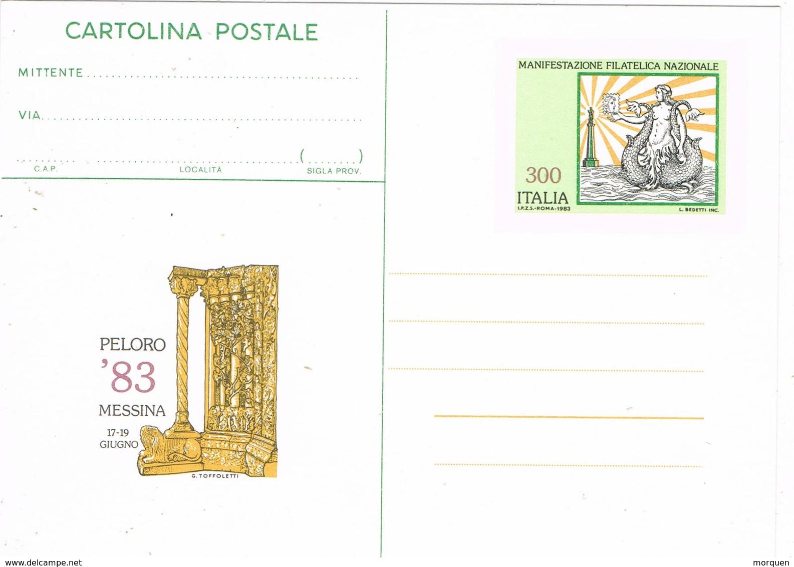 36601. Entero Postal ITALIA 1983. PELORO 83 De MESSINA - Interi Postali