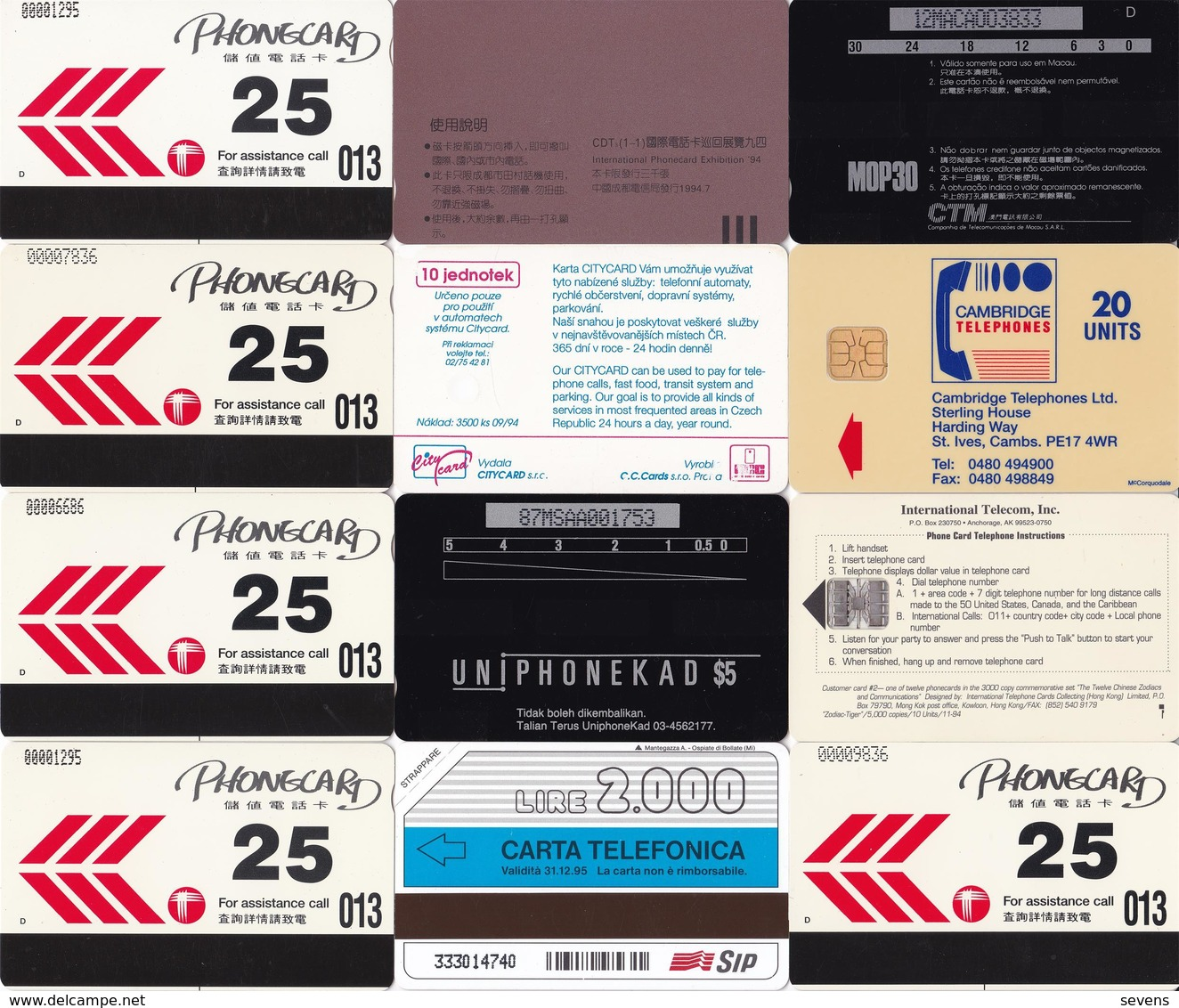 Joint Issued, 12 Horoscope Set, International Phonecards, Exhibiton 94', Mint, Special Price,see Description - Phonecards