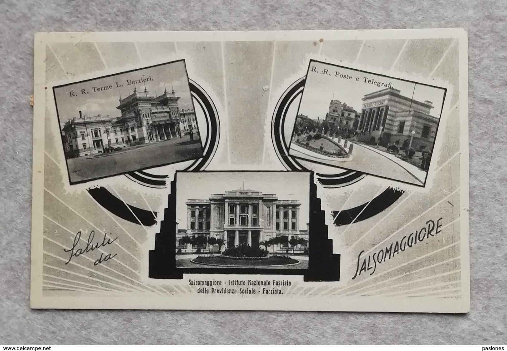 Cartolina Illustrata Saluti Da Salsomaggiore, Per Bologna 1949 - Gruss Aus.../ Gruesse Aus...