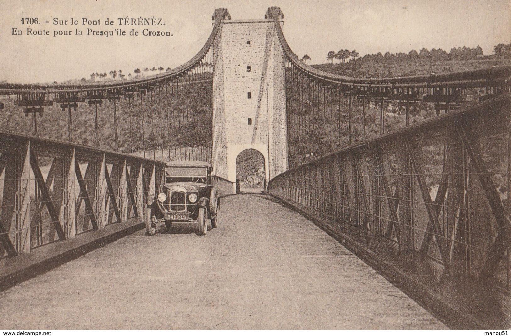 Sur Le Pont De TERENEZ, En Route Pour La Presqu'ile De Crozon - Altri Comuni