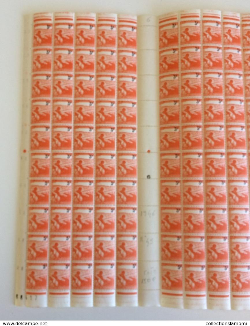 Coins Datés 2.5.1945 Neuf (Y&T N°45) - Coté 150€ (Feuille Complète 100 Val) - 1940-1949