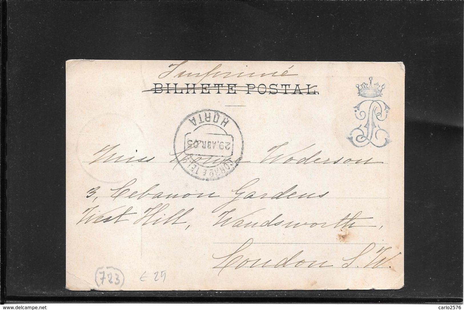 Acores ,Horta 1905, Postcard To France ( Ref 3068) - Horta