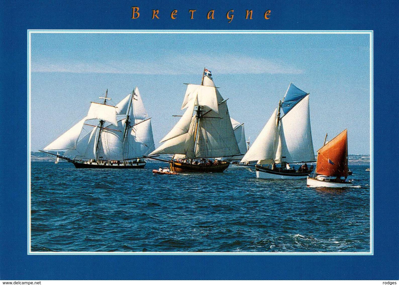 BRETAGNE , Cpm En Bretagne , B468 , Course De Vieux Gréements (21630) - Bretagne
