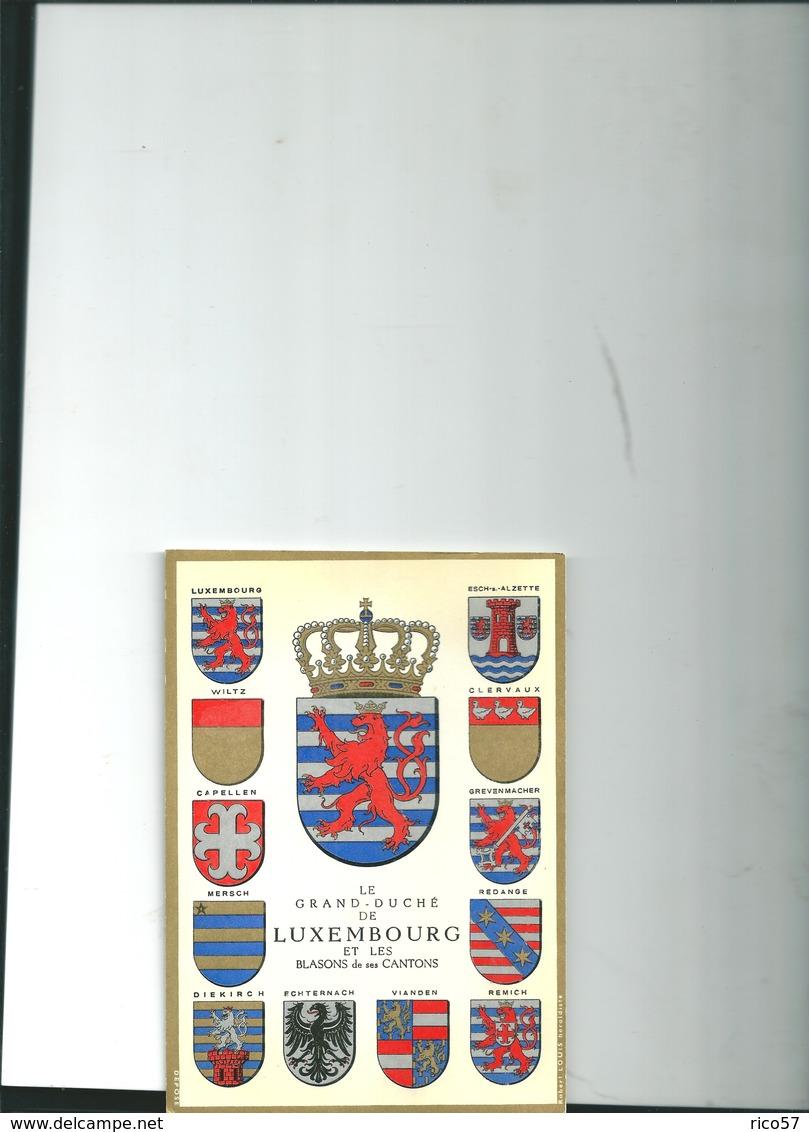 Carte Luxembourg Blasons Robert Louis - Sonstige