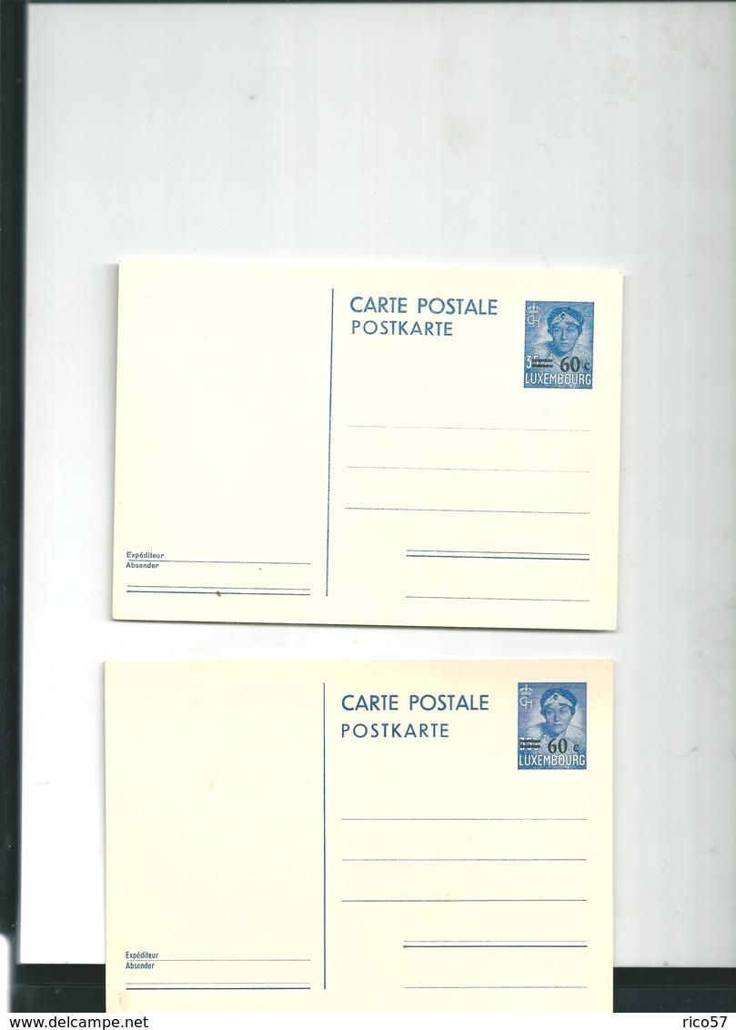 Cartes Luxembourg 60 C Neuves - Grossherzogliche Familie