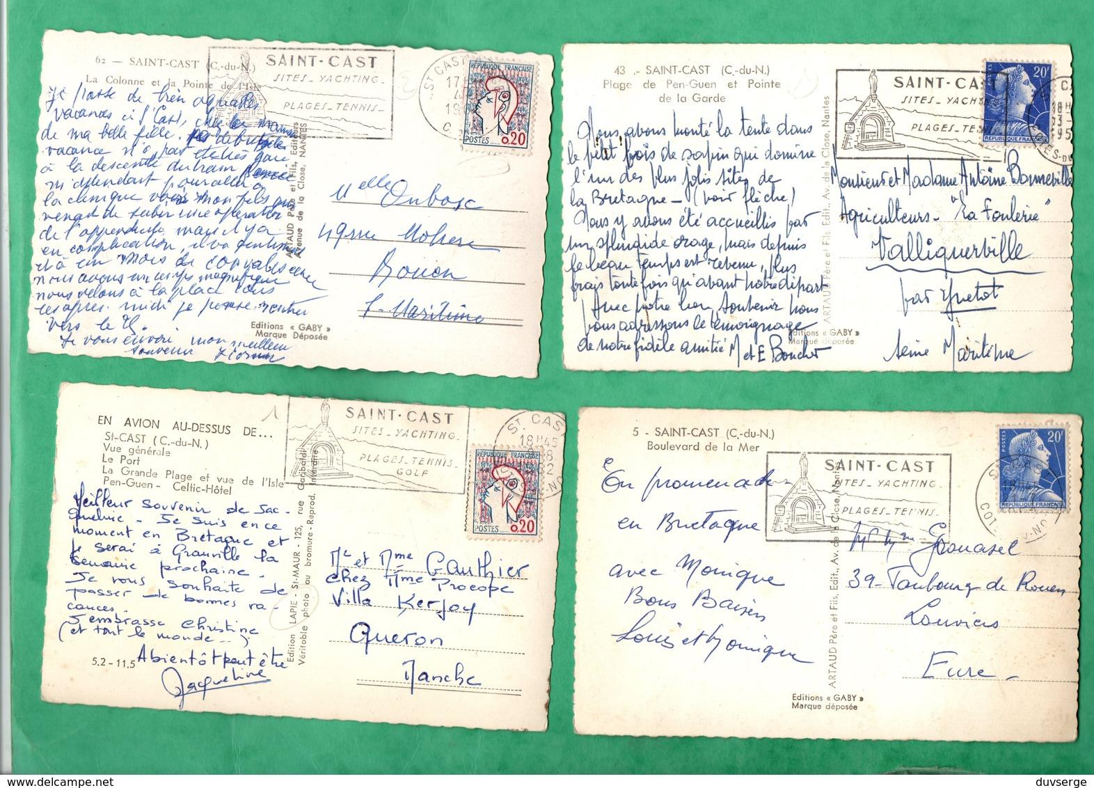 22 Cotes D' Armor Saint Cast  Lot De 4 Cartes Postales Format 9cm X14cm - Saint-Cast-le-Guildo