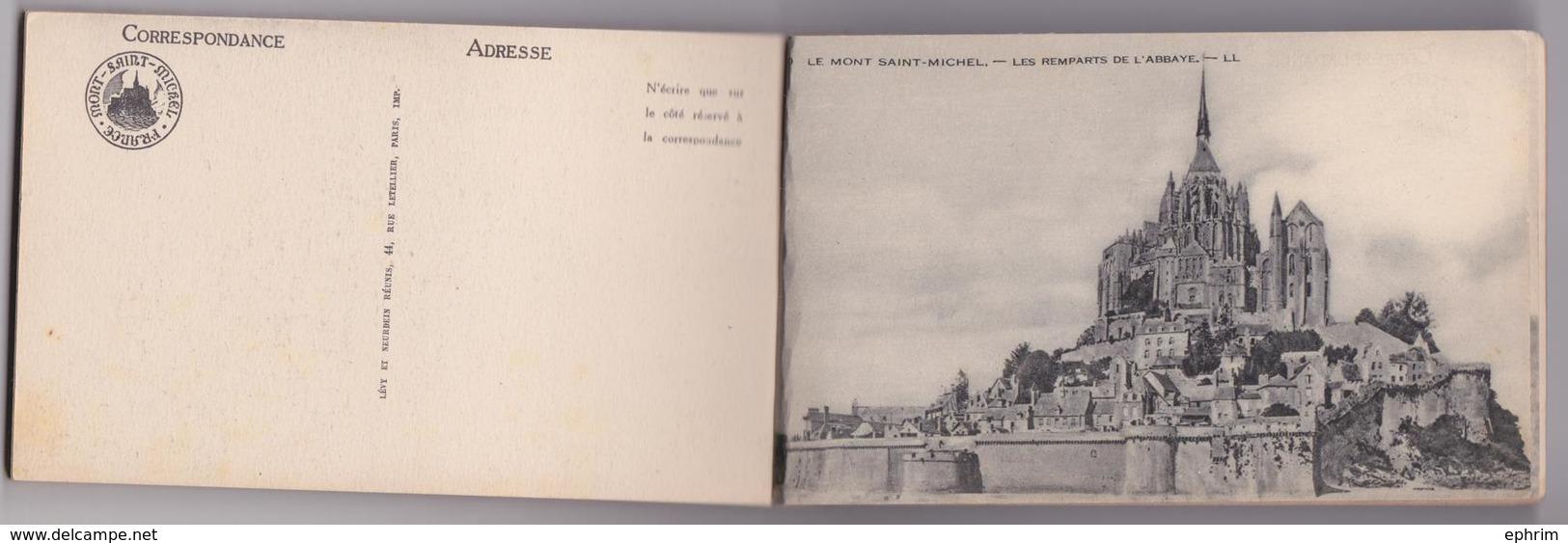 Carnet Complet Le Mont-Saint-Michel 21 Cartes Postales LL ND - Le Mont Saint Michel