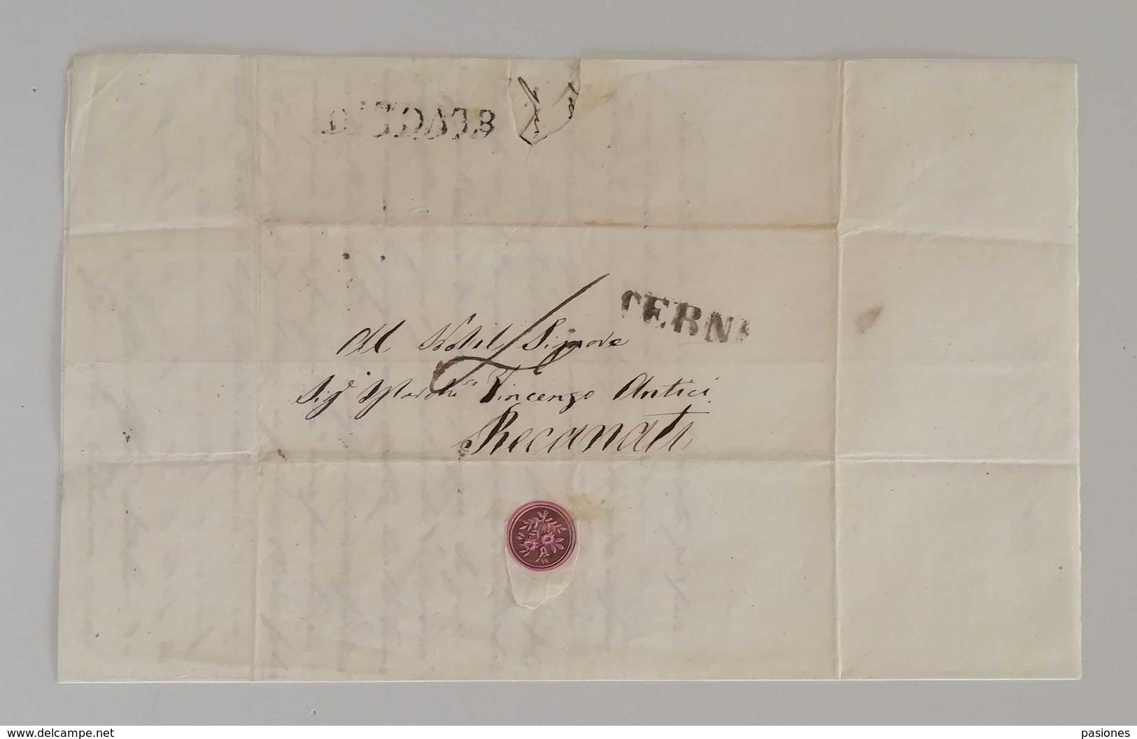 Scritto Da Terni Per Recanati - 1. ...-1850 Prefilatelia