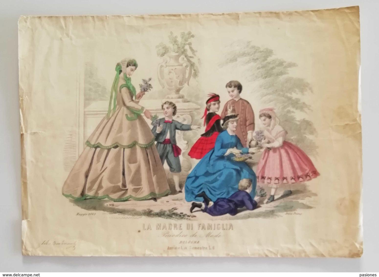 La Madre Di Famiglia - Periodico Di Mode Bologna Maggio 1865 - Estampas & Grabados