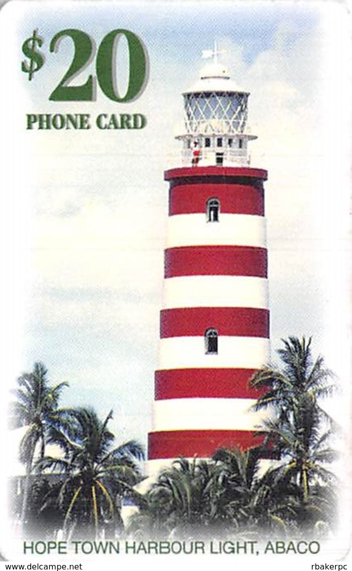 $20 Prepaid Batelco Phone Card - Hope Town Harbour Light, ABACO - With Smart Chip - Phonecards