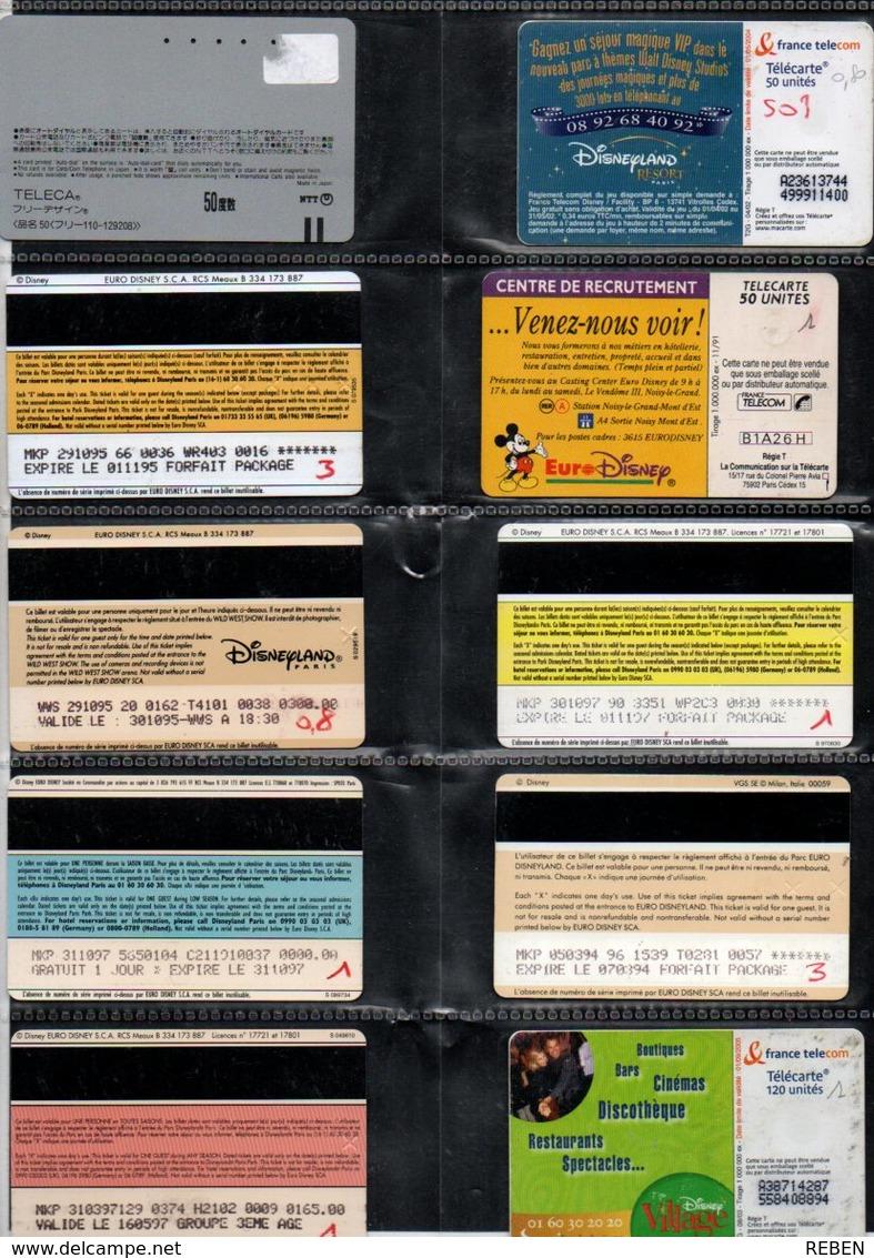 10 TC + Pass DISNEY - Phonecards