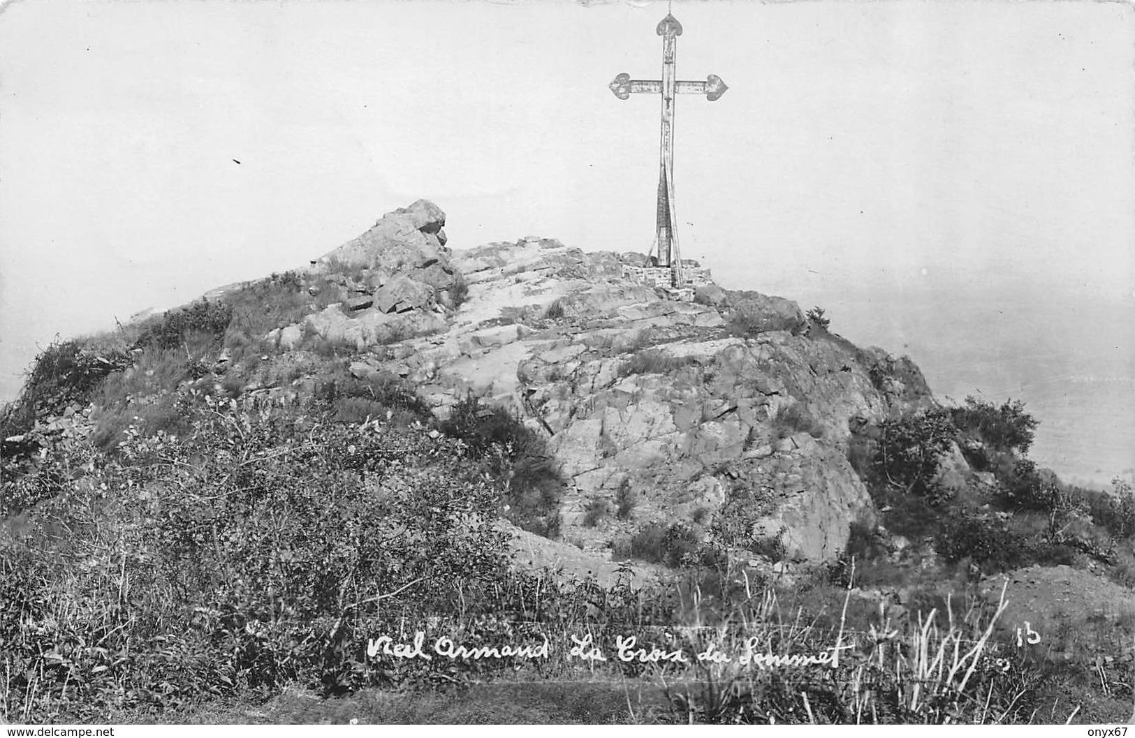 Carte Photo HARTMANNSWILLERKOPF-HARTMANNSWEILER-VIEIL ARMAND-Croix Sommet-Cachet Wattwiller-Haut-Rhin-Guerre 14/18-Krieg - Otros Municipios
