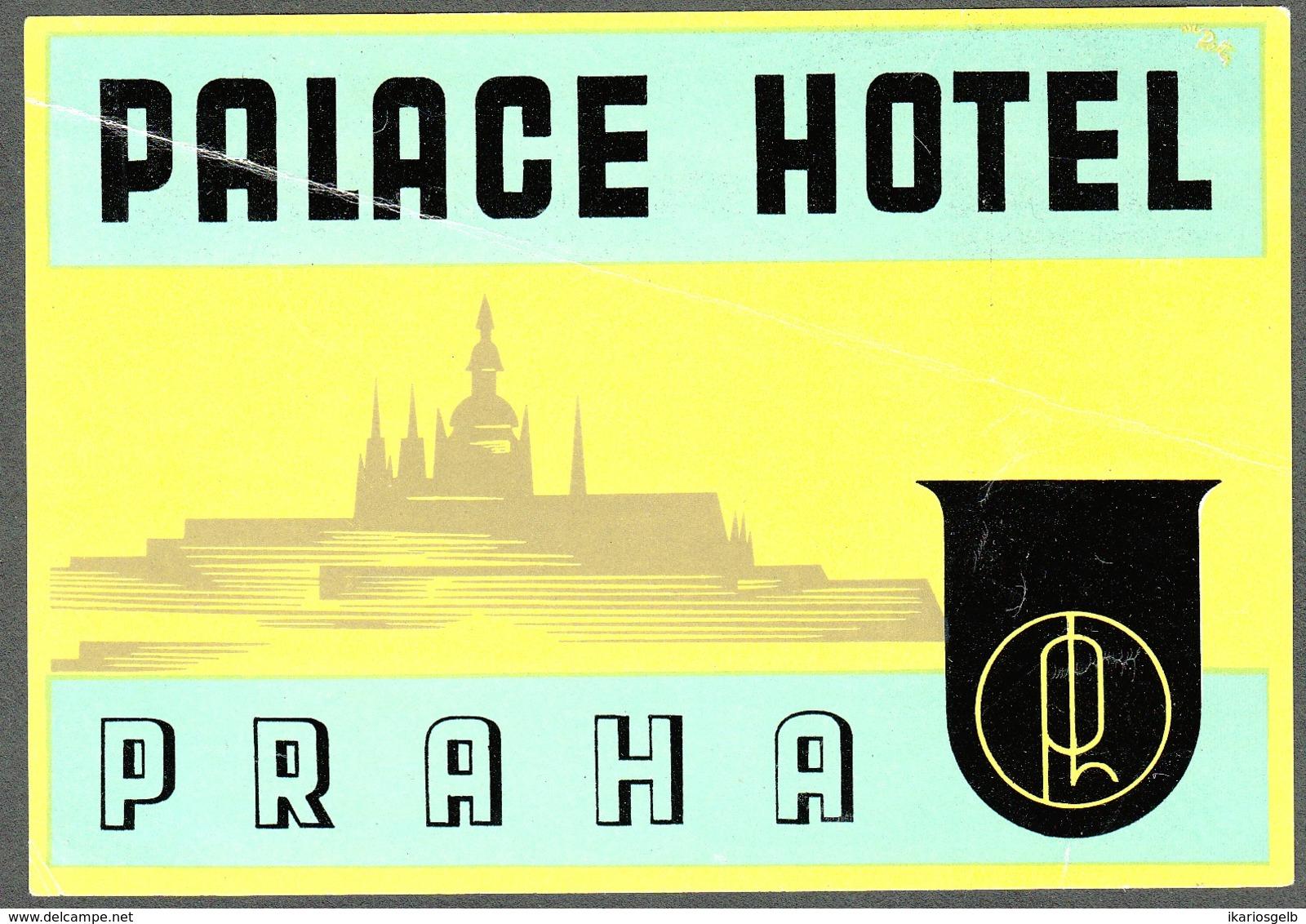 "Hotelaufkleber Etiquette Pour Valise "" Prag Praha Palace Hotel "" Kofferaufkleber Luggage Label Adesivi Per Hotel - Etiquetas De Hotel"