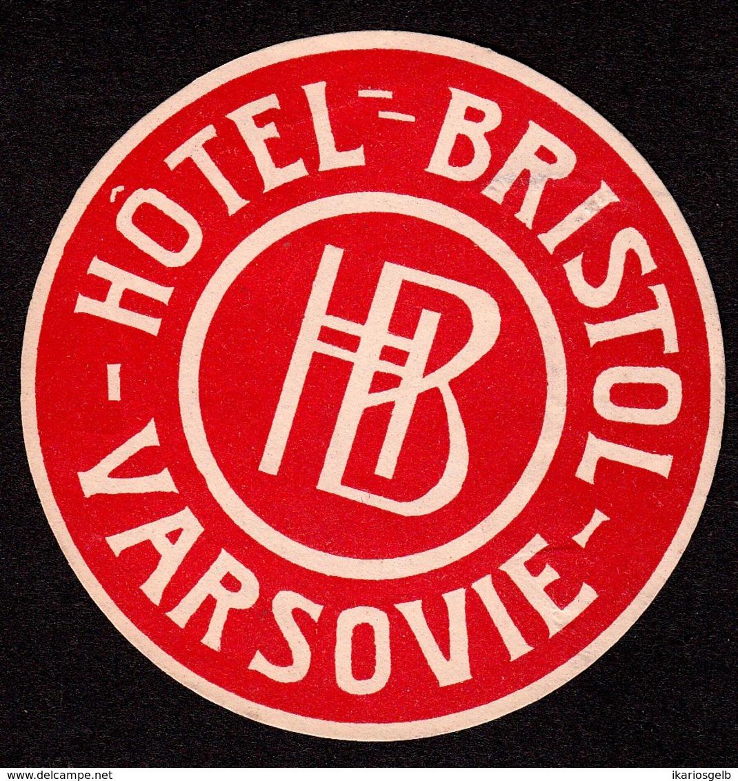 "Hotelaufkleber Etiquette Pour Valise "" Polska Varsovie Hotel Bristol "" Kofferaufkleber Luggage Label Adesivi Per Hotel - Etiquetas De Hotel"