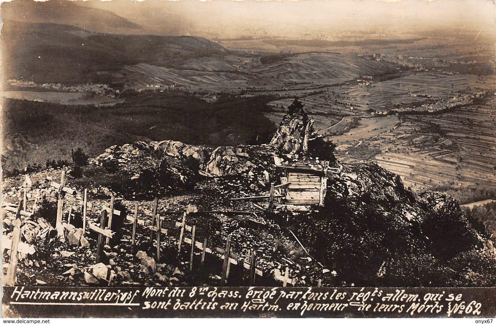 Carte Photo HARTMANNSWILLERKOPF-HARTMANNSWEILER-VIEIL ARMAND-Monument Militaire 8 ème  Chasseurs-Guerre 14/18-Krieg - Otros Municipios