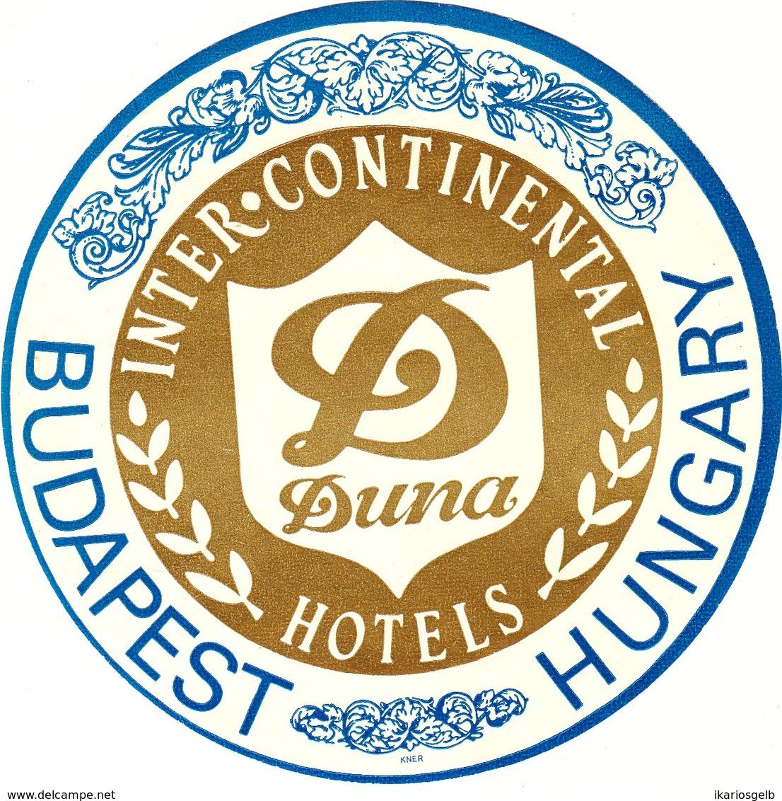 "Hotelaufkleber Etiquette Pour Valise ""Budapest Duna Intercontinental"" Kofferaufkleber Luggage Label Adesivi Per Hotel - Etiquetas De Hotel"