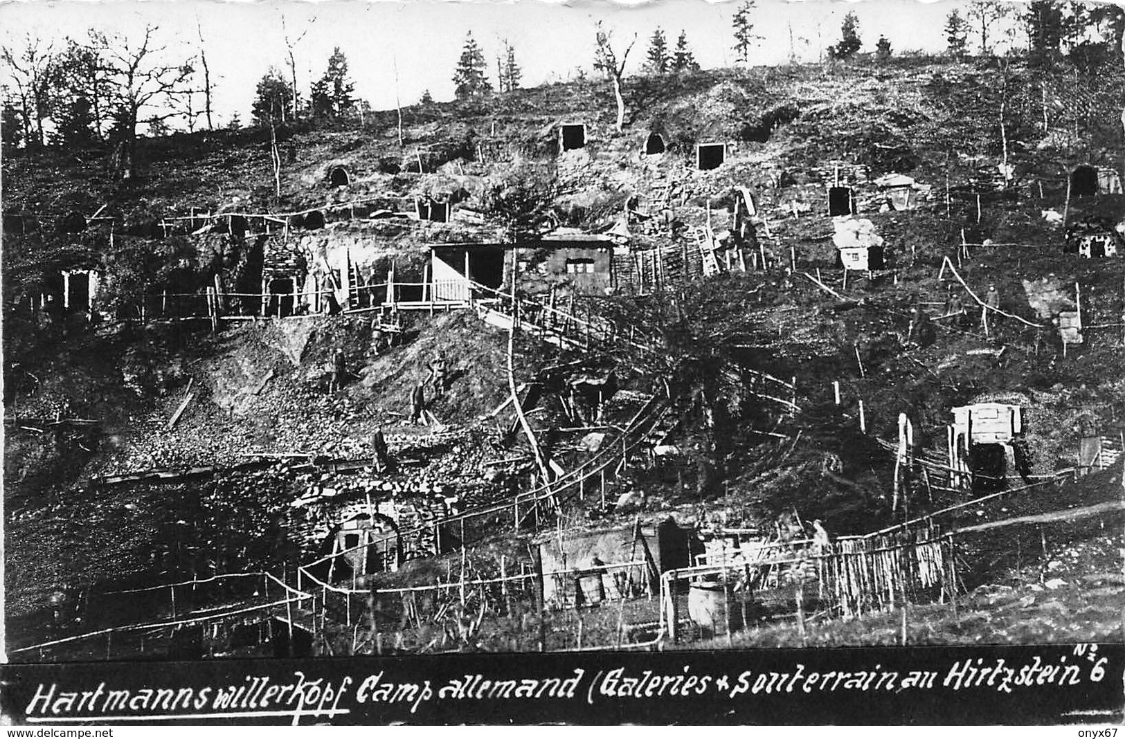 Carte Photo HARTMANNSWILLERKOPF-HARTMANNSWEILER-VIEIL ARMAND-Abris Souterrains Militaire Allemand-Guerre 14/18-Krieg - Other Municipalities