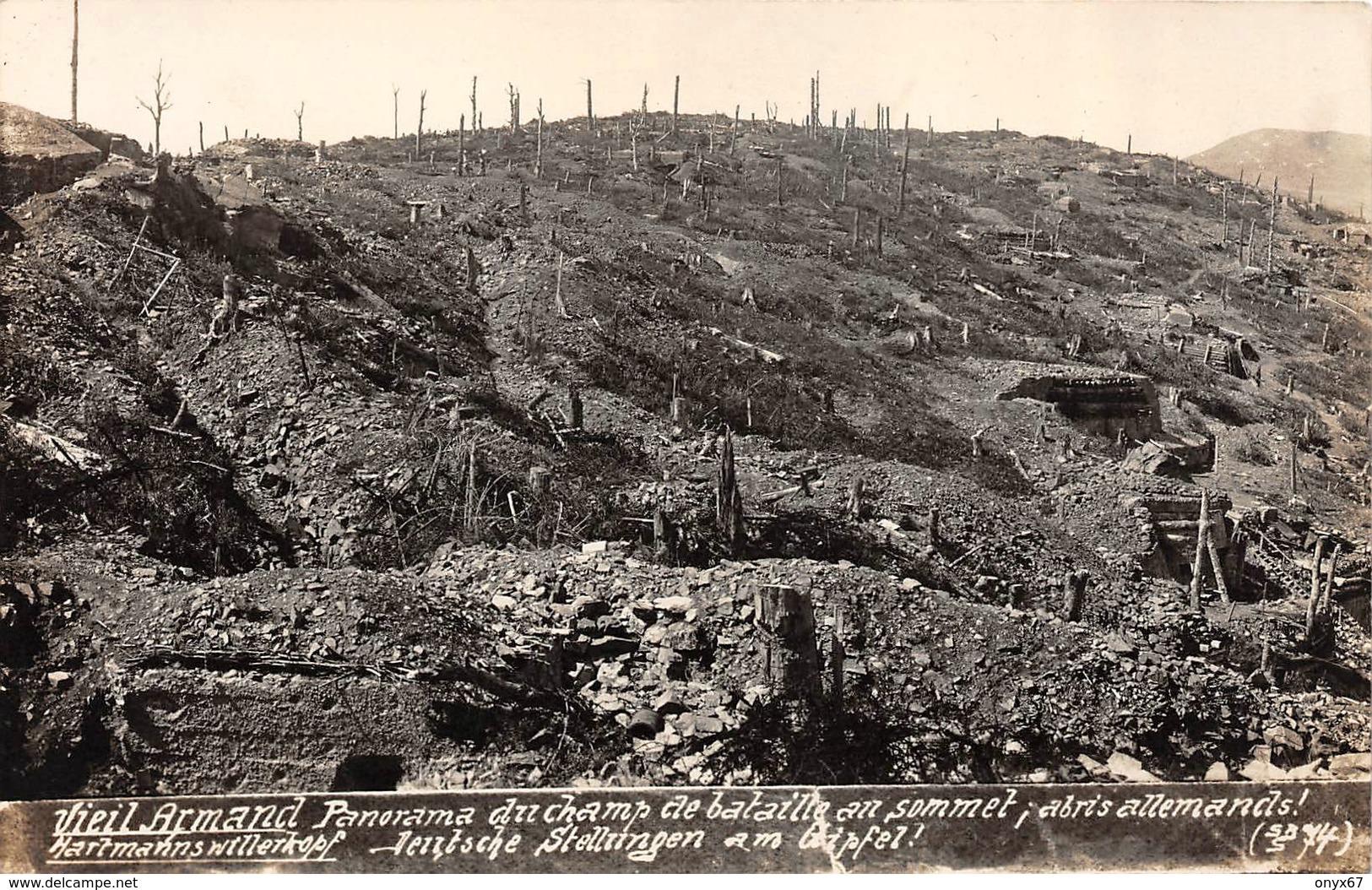 Carte Photo HARTMANNSWILLERKOPF-HARTMANNSWEILER-VIEIL ARMAND-Champ Bataille-Abris Militaire Haut-Rhin-Guerre 14/18-Krieg - Otros Municipios