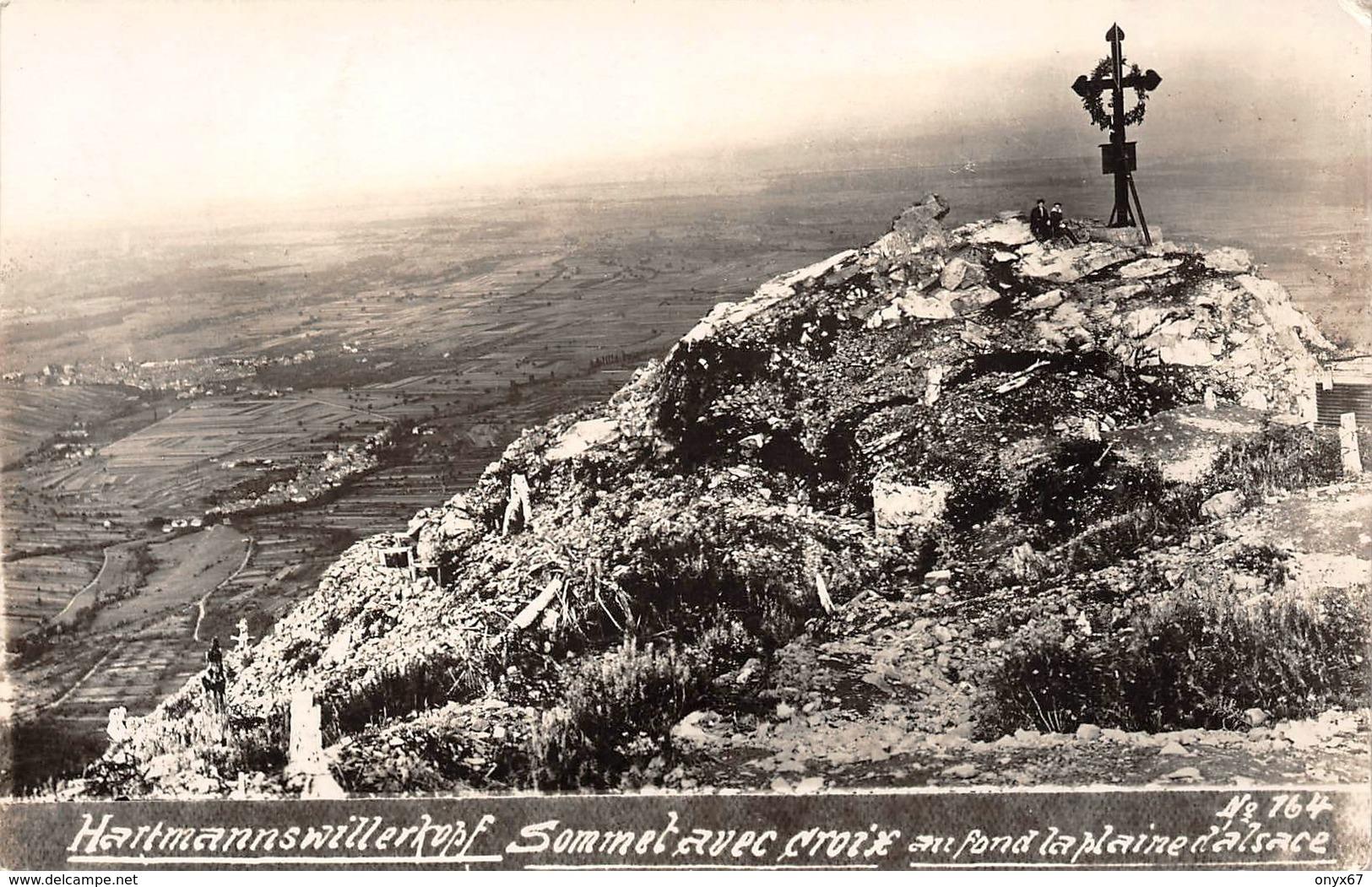 Carte Photo Militaire HARTMANNSWILLERKOPF-HARTMANNSWEILER-VIEIL ARMAND-Croix Sommet Haut-Rhin-Guerre -Krieg 14/18 - Otros Municipios