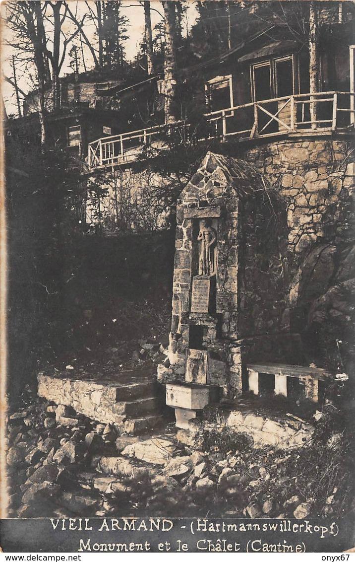 Carte Photo Militaire HARTMANNSWILLERKOPF-HARTMANNSWEILER-VIEIL ARMAND-Monument Denkmal Chalet-Guerre 14/18-Krieg - Otros Municipios