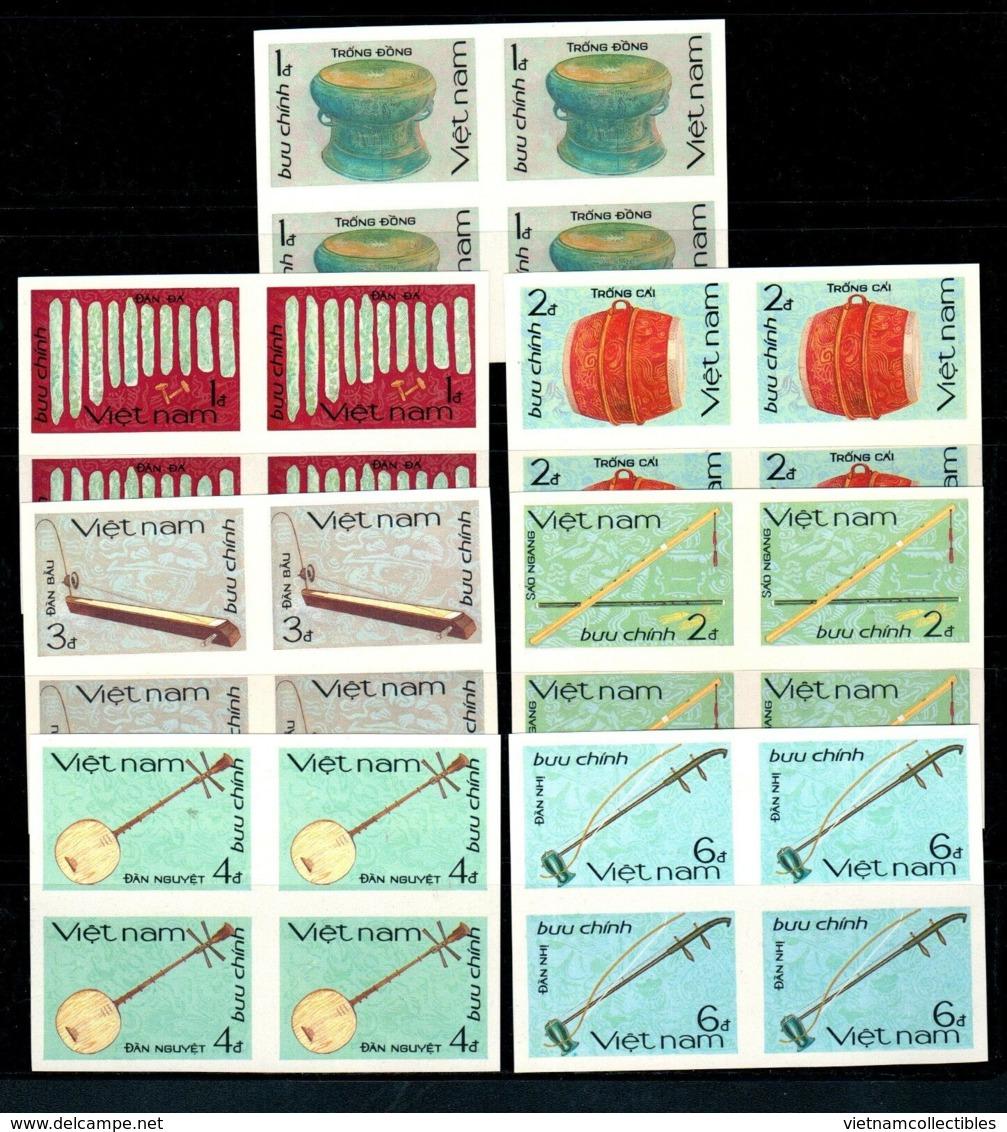 Blocks 4 Of Vietnam Viet Nam MNH Imperf Stamps 1985 : National Musical Instruments (Ms481) - Vietnam