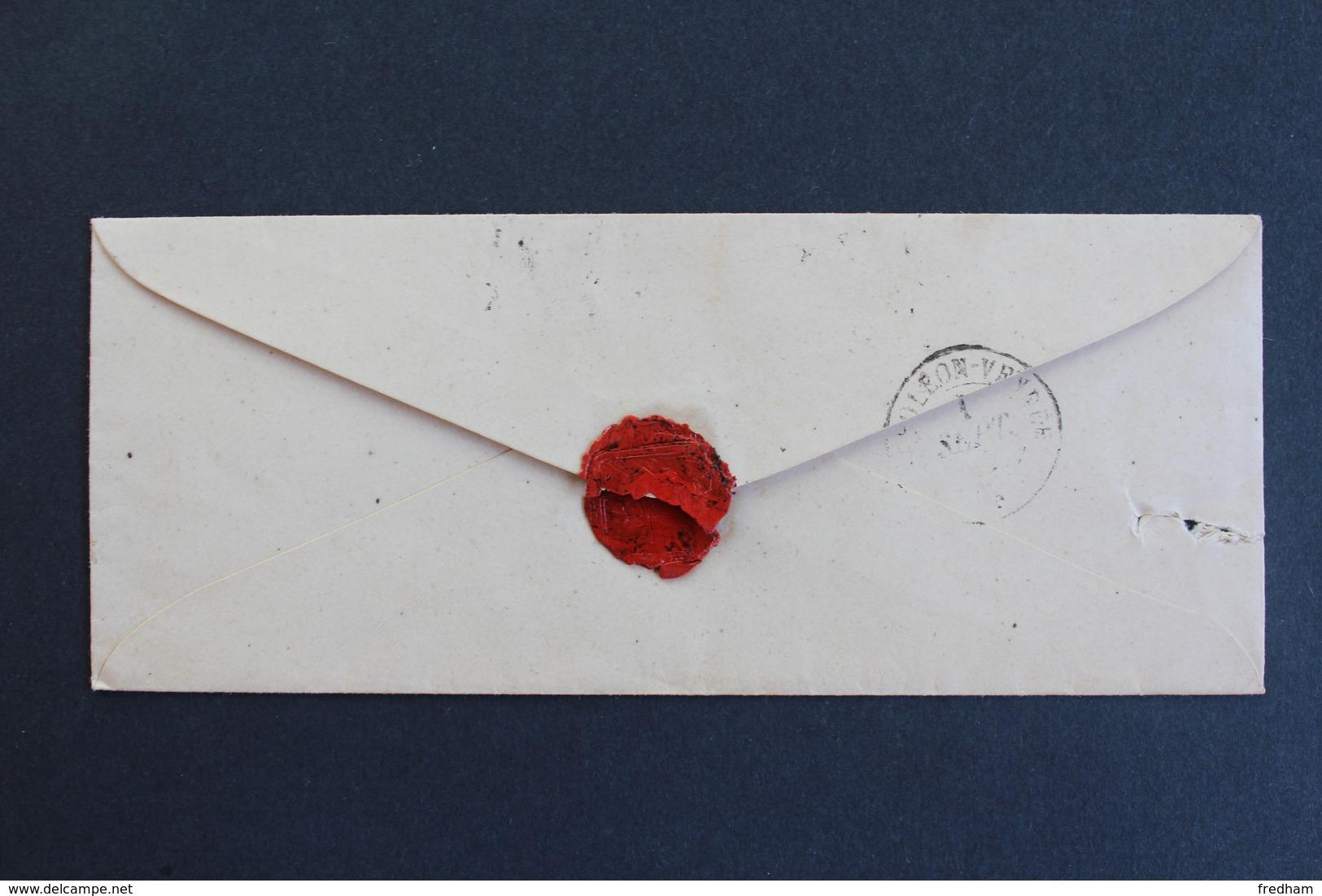 LSC NANTES CAD TYPE 15 DU 1ER SEPT 18? POUR NAPOLEON VENDEE (LA ROCHE/ YON) CAD ARRIVEE TYPE 15 TAXE MANUSCRITE 2 DECI. - 1849-1876: Klassieke Periode