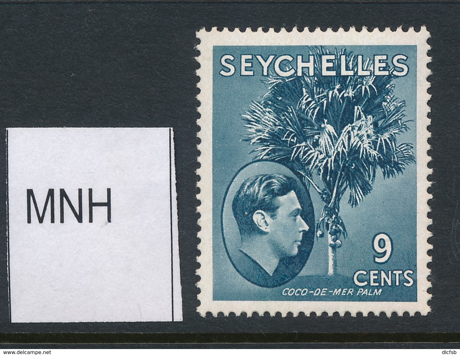 SEYCHELLES, 1938 9c Dull Blue (ordinary Paper) MNH, SG138ac, Cat £8 - Seychelles (...-1976)