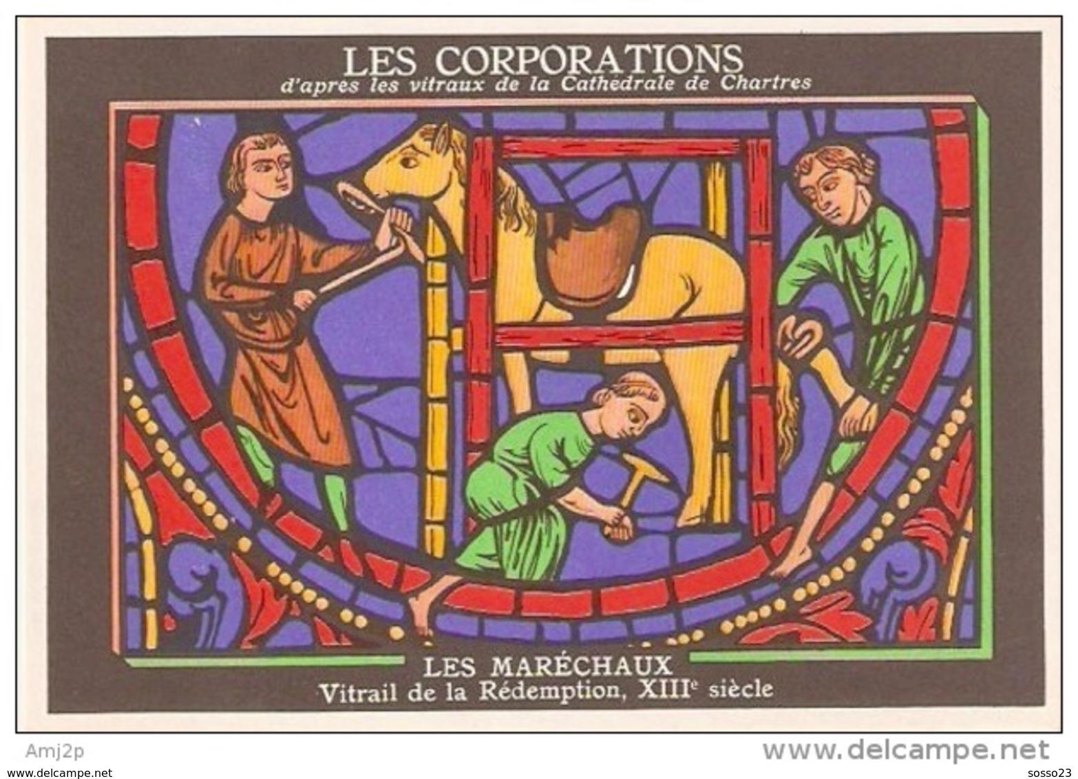 METIERS - LES CORPORATIONS LES MARECHAUX -  VITRAIL DE LA REDEMPTION- CHROMO PUB ASPIRINE/ - Unclassified