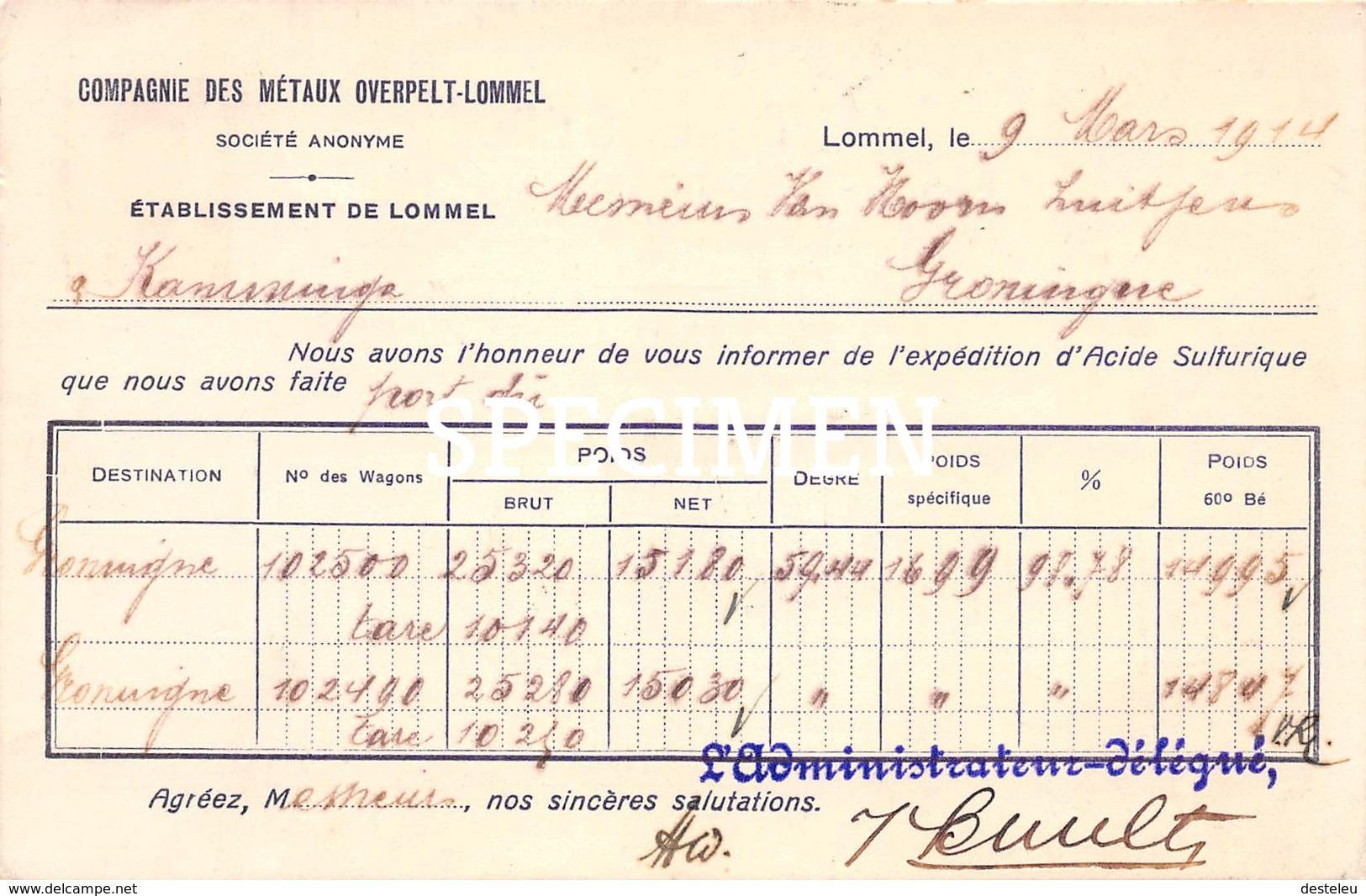 Compagnie Des Métaux Overpelt-Lommel - Overpelt - Lommel - Overpelt