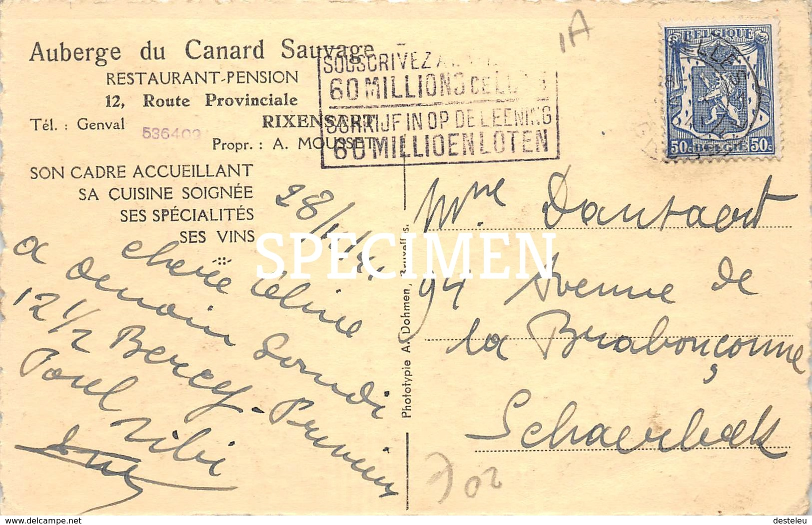 Auberge Du Canard Sauvage - Rixensart - Rixensart