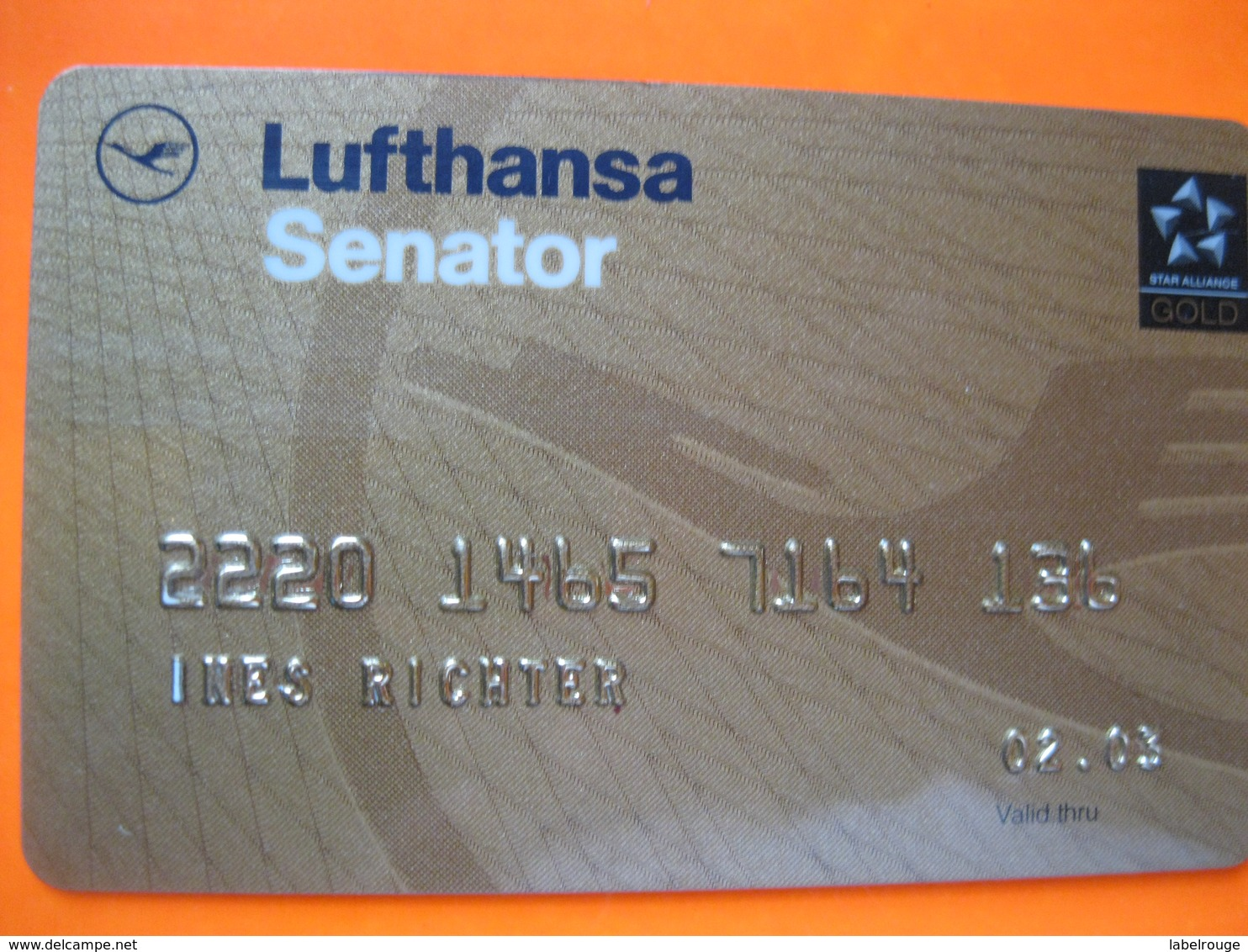 "Telecarte Avion Lufthansa Or""point Miles"" - Phonecards"