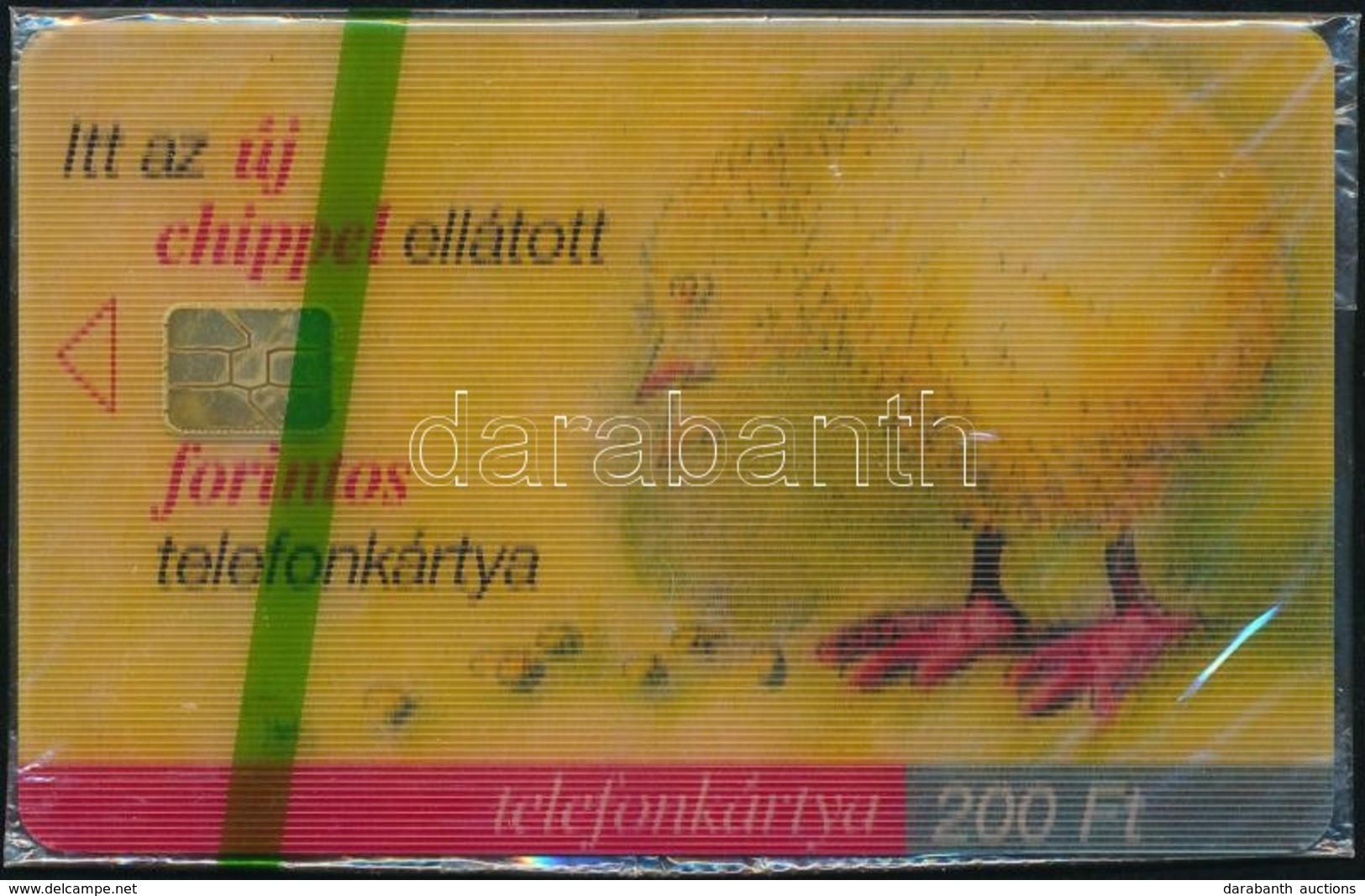 1999 Az új Chipes Telefonkártya. 3D-s Csipegető Csirke Telefonkártya Használatlan, Bontatlan Csomagolásban. Sorszámozott - Phonecards