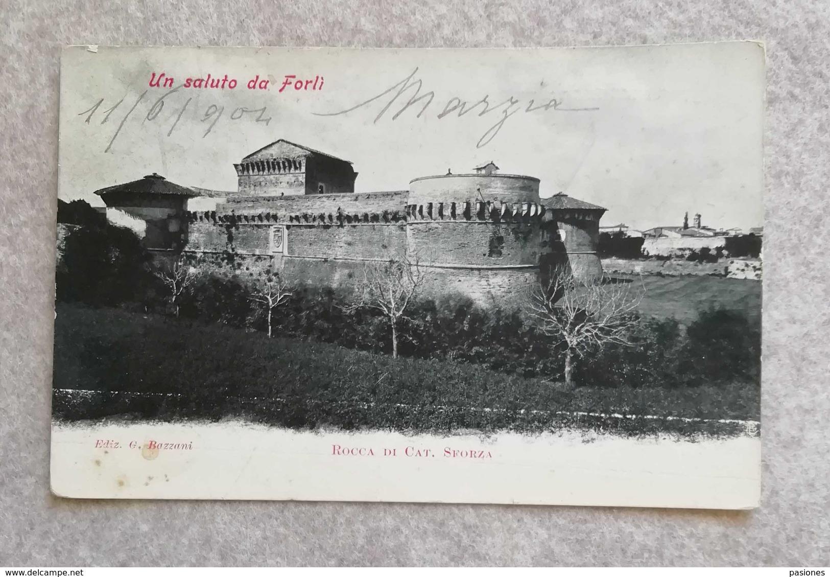 Cartolina Postale Forlì - Rocca Di Caterina Sforza 1904 - Forlì