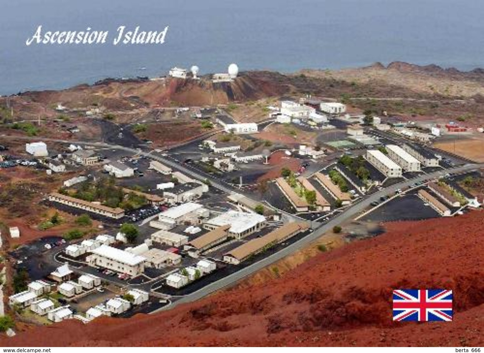 Ascension Island Aerial View New Postcard - Ascension