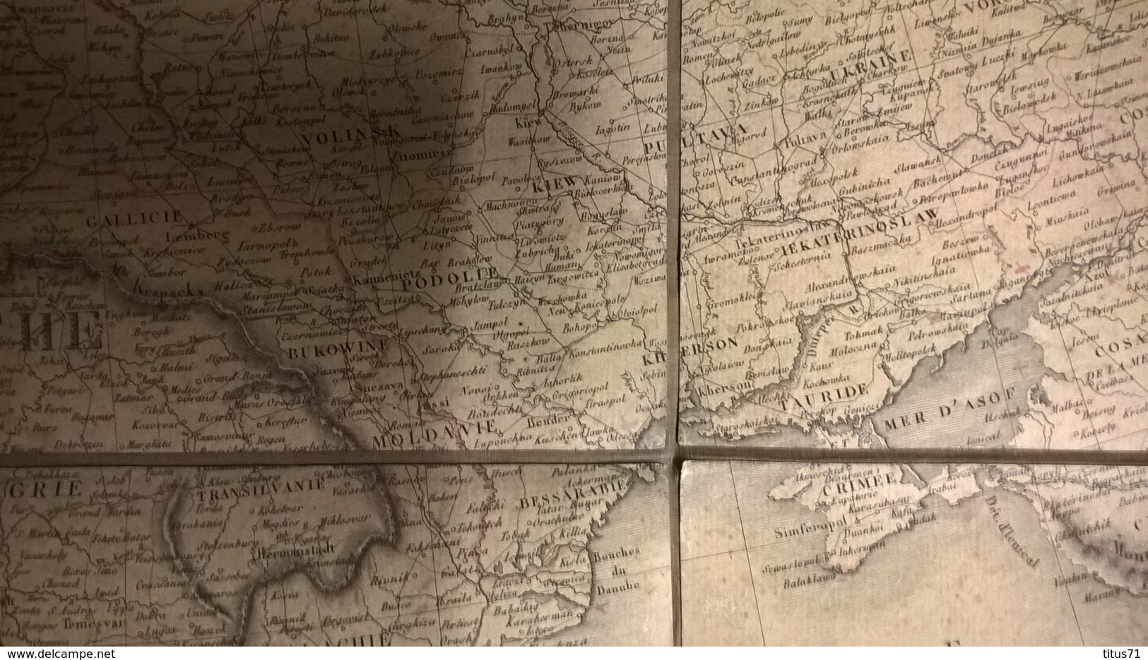 Carte D' Europe 1er Empire 1813 - Authentique - Entoilée - 78 X 112 Cm - Vente En France Seulement - Sale In France Only - Cartes Géographiques