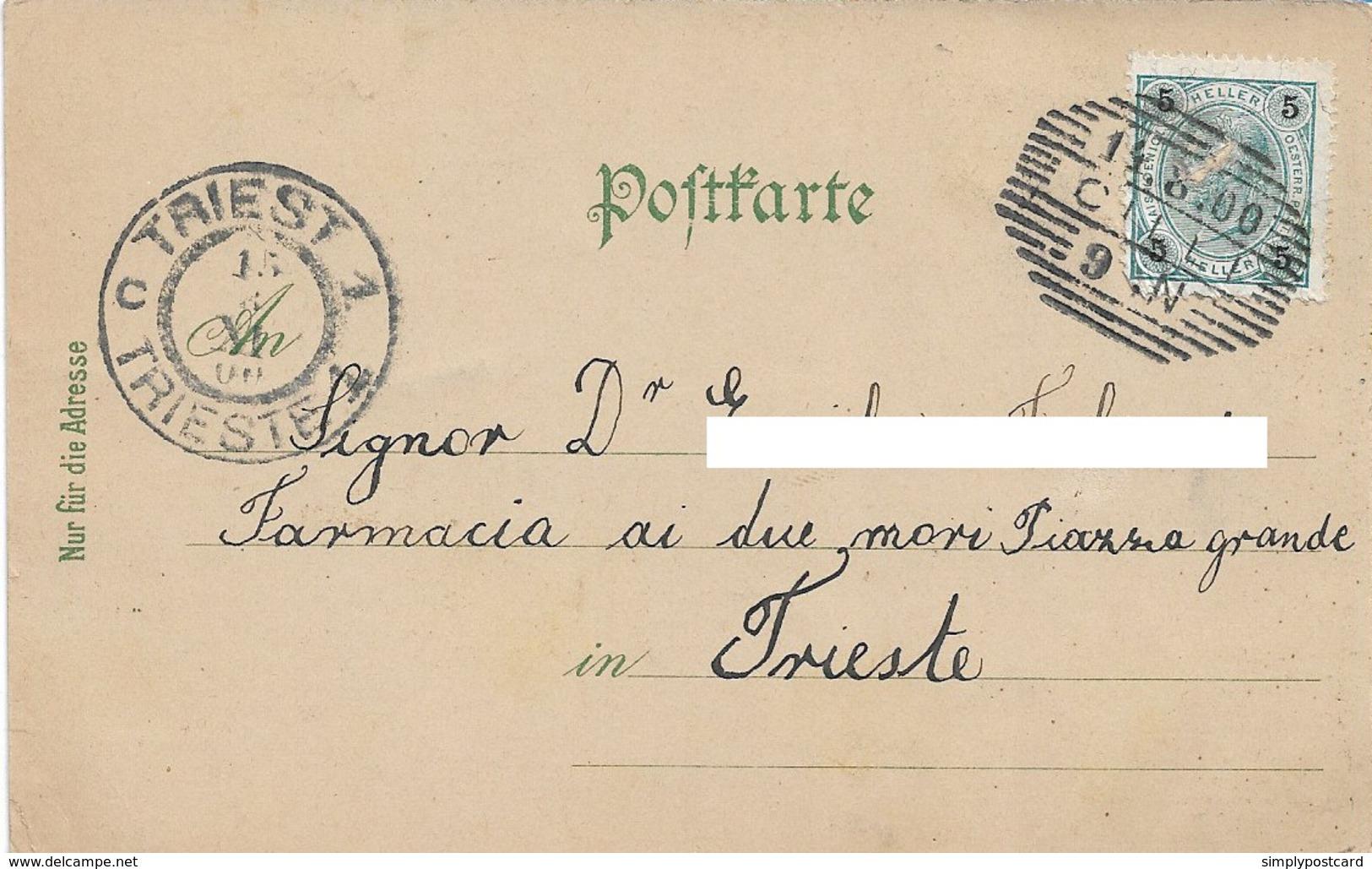 OLD POSTCARD AUSTRIA SLOVENIA - CILLI - HAUPTPLATZ - VIAGGIATA 14 AGOSTO 1900 - P38 - Slovenia