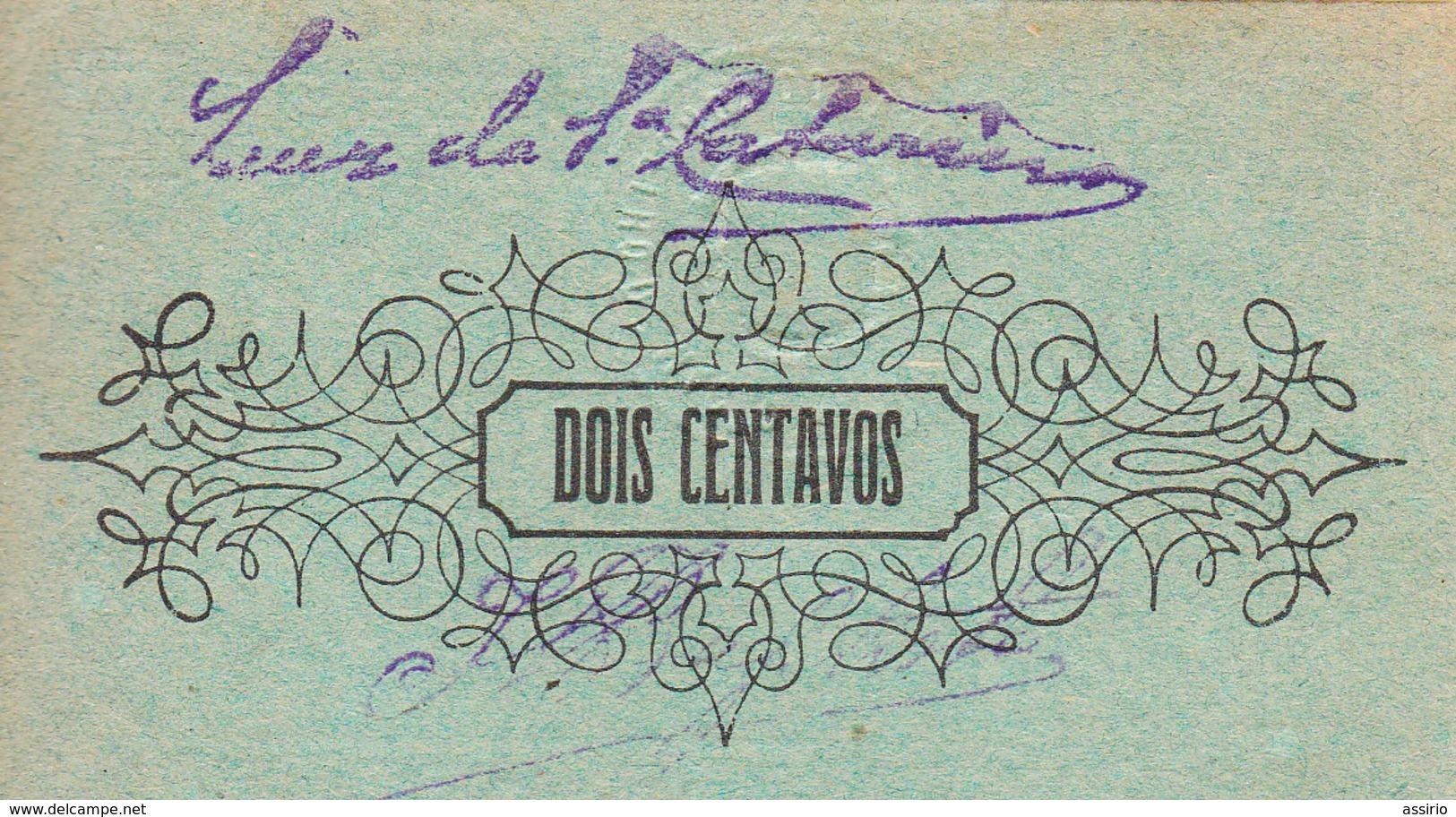 Portugal -Cédula De Mação  Nº 1289  2 Ctv  S/ Data - Portugal