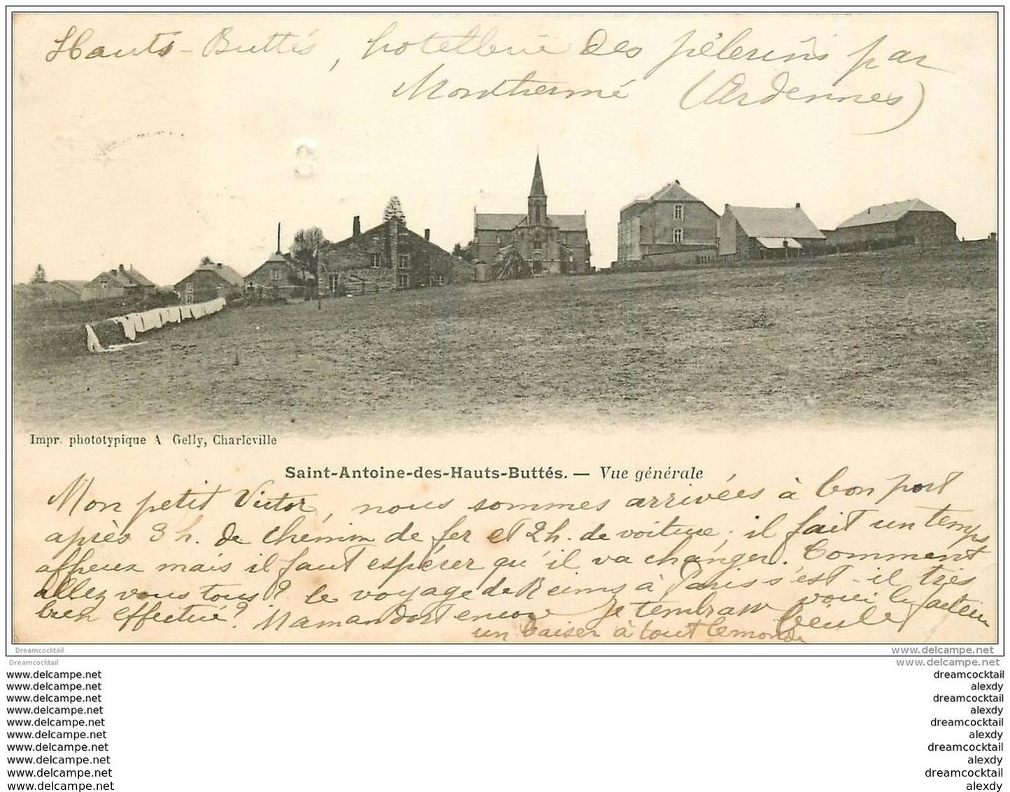 08 SAINT-ANTOINE-DES-HAUTS-BUTTES. Le Village 1903 - Montherme