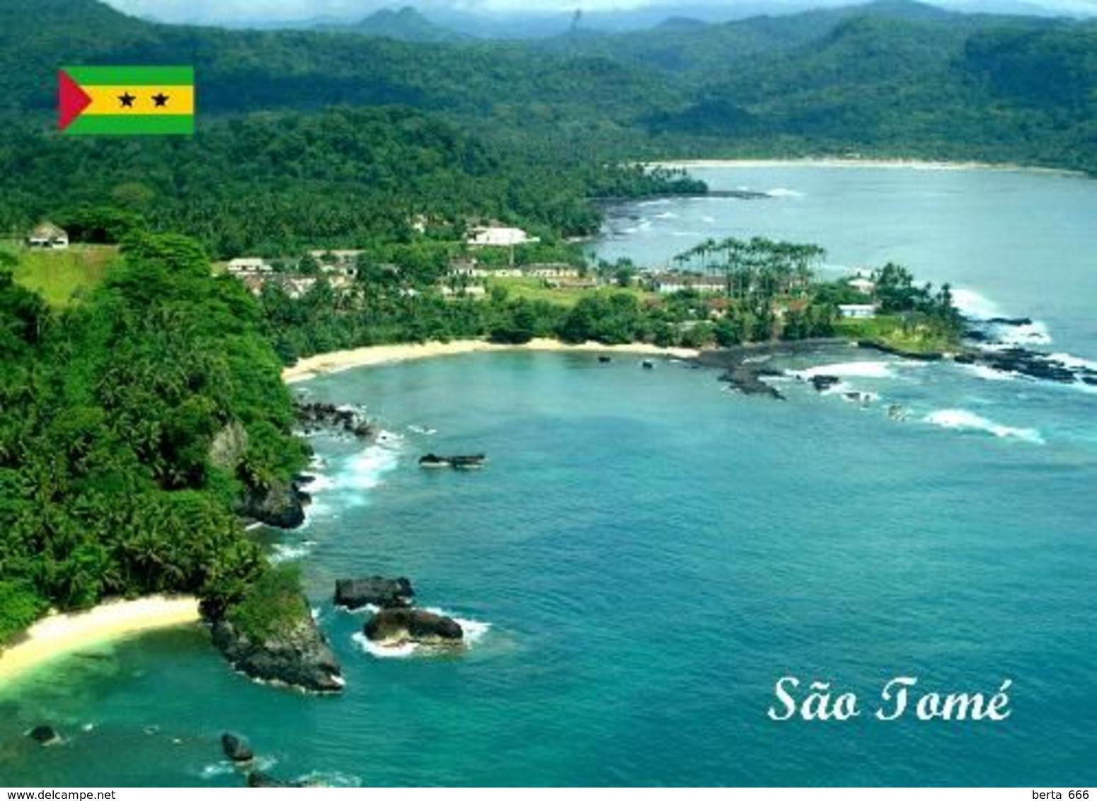 Sao Tome And Principe Islands Aerial View New Postcard - Sao Tome En Principe