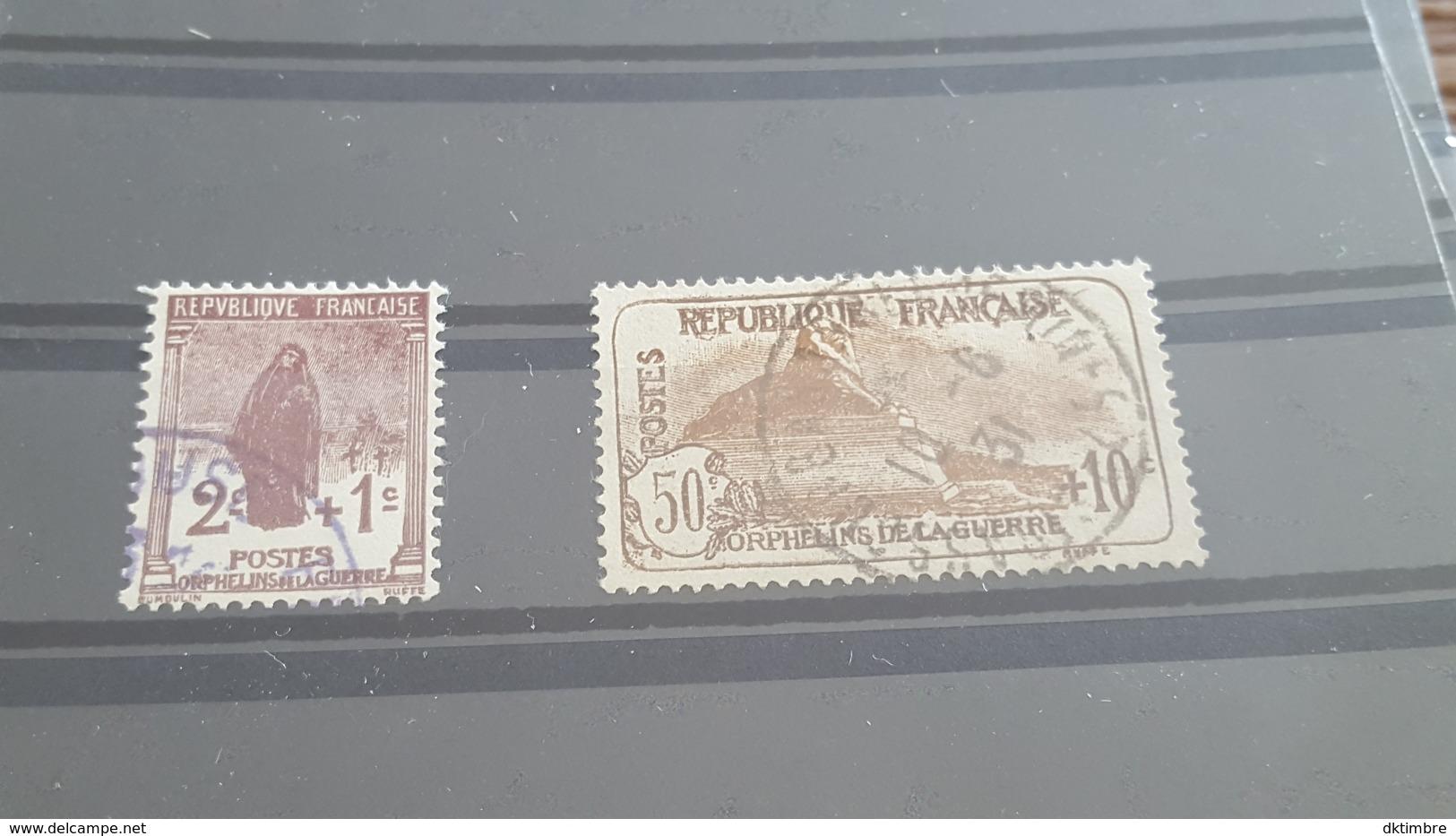 LOT504354 TIMBRE DE FRANCE OBLITERE N°229/230 - Usados