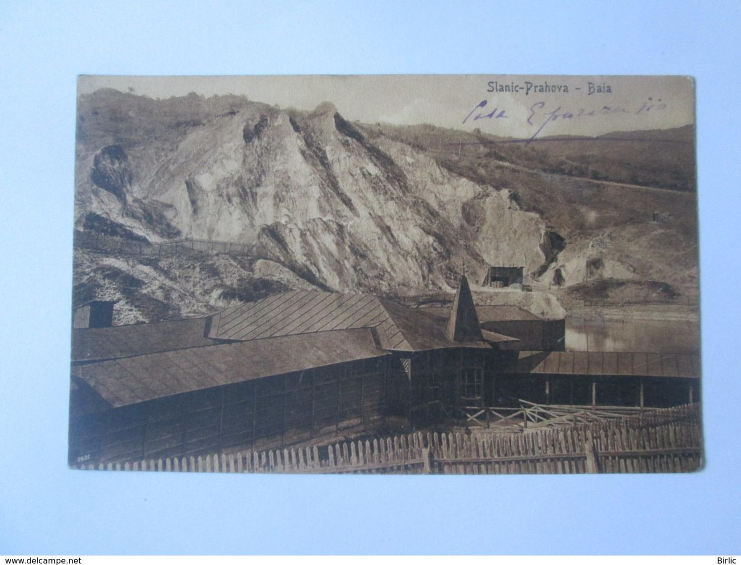 Rare! Romania-Slanic Prahova-Epuraru House/thermal Bath,1916 Mailed Postcard Rare Train Stamp Slanic Station - Romania