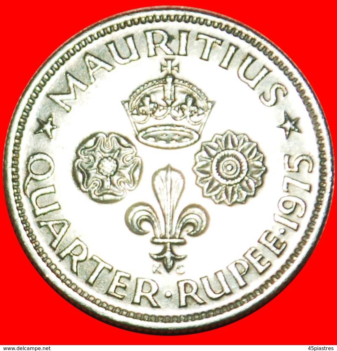 · GREAT BRITAIN (1960-1978): MAURITIUS ★ 1/4 RUPEE 1975! LOW START ★ NO RESERVE! - Maurice