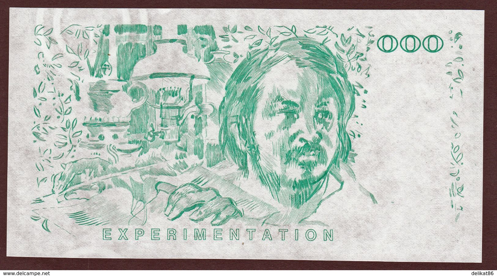 Probedruck Testbanknote Specimen Frankreich 1988 Echantillion Balzac - Ficción & Especímenes