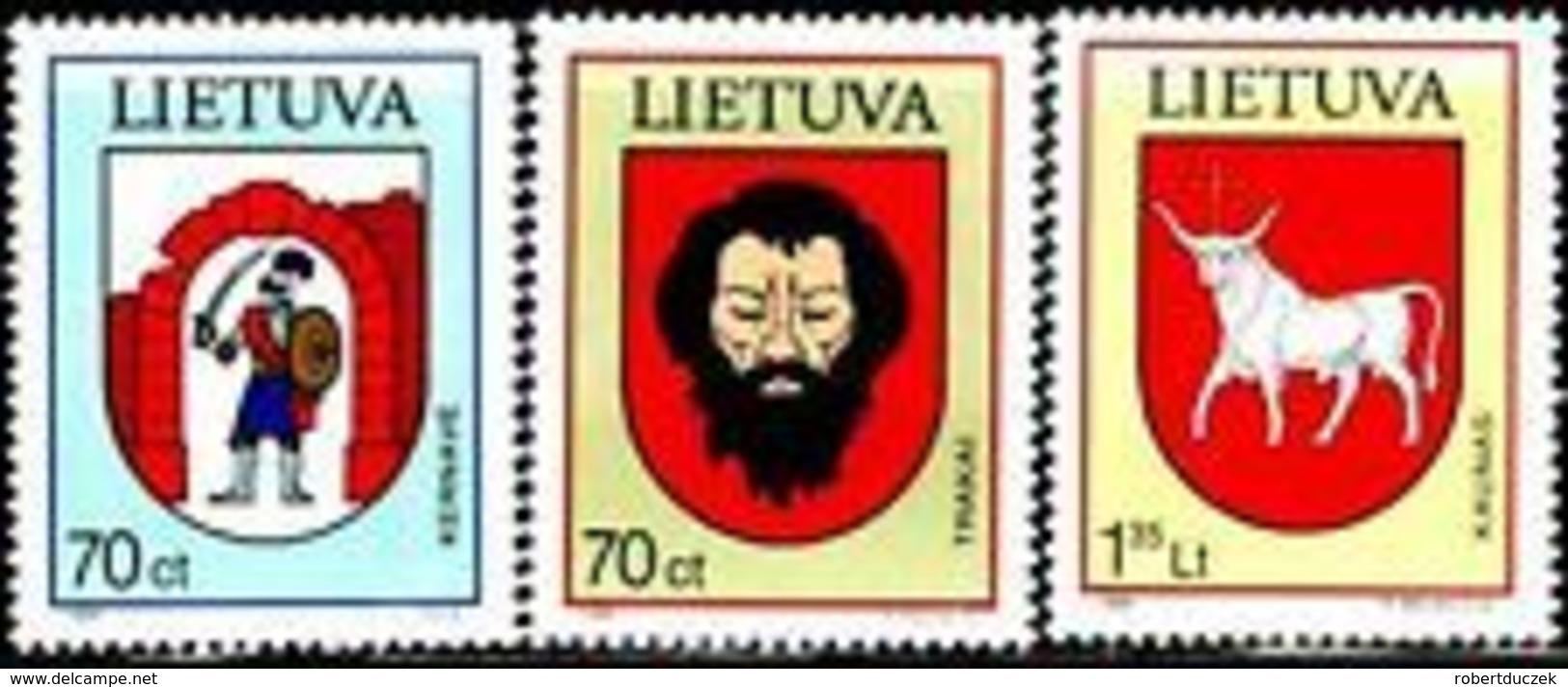 Lithuania 1998 Town Arms . Mi 673-75. MNH** - Lituania