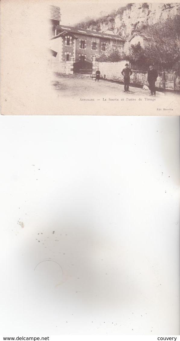 CPA 01 ARTEMARE ,la Source Et L'Usine De Tissage.(1906) Animée.... - France