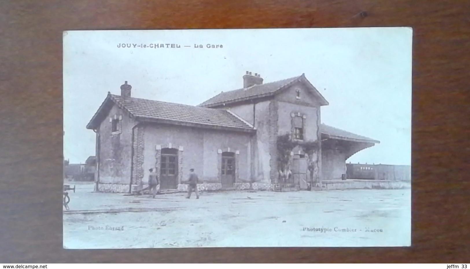 CARTE POSTALE ANCIENNE - SEINE ET MARNE 77 - JOUY LE CHATEL - LA GARE - ANIMEE - Autres Communes
