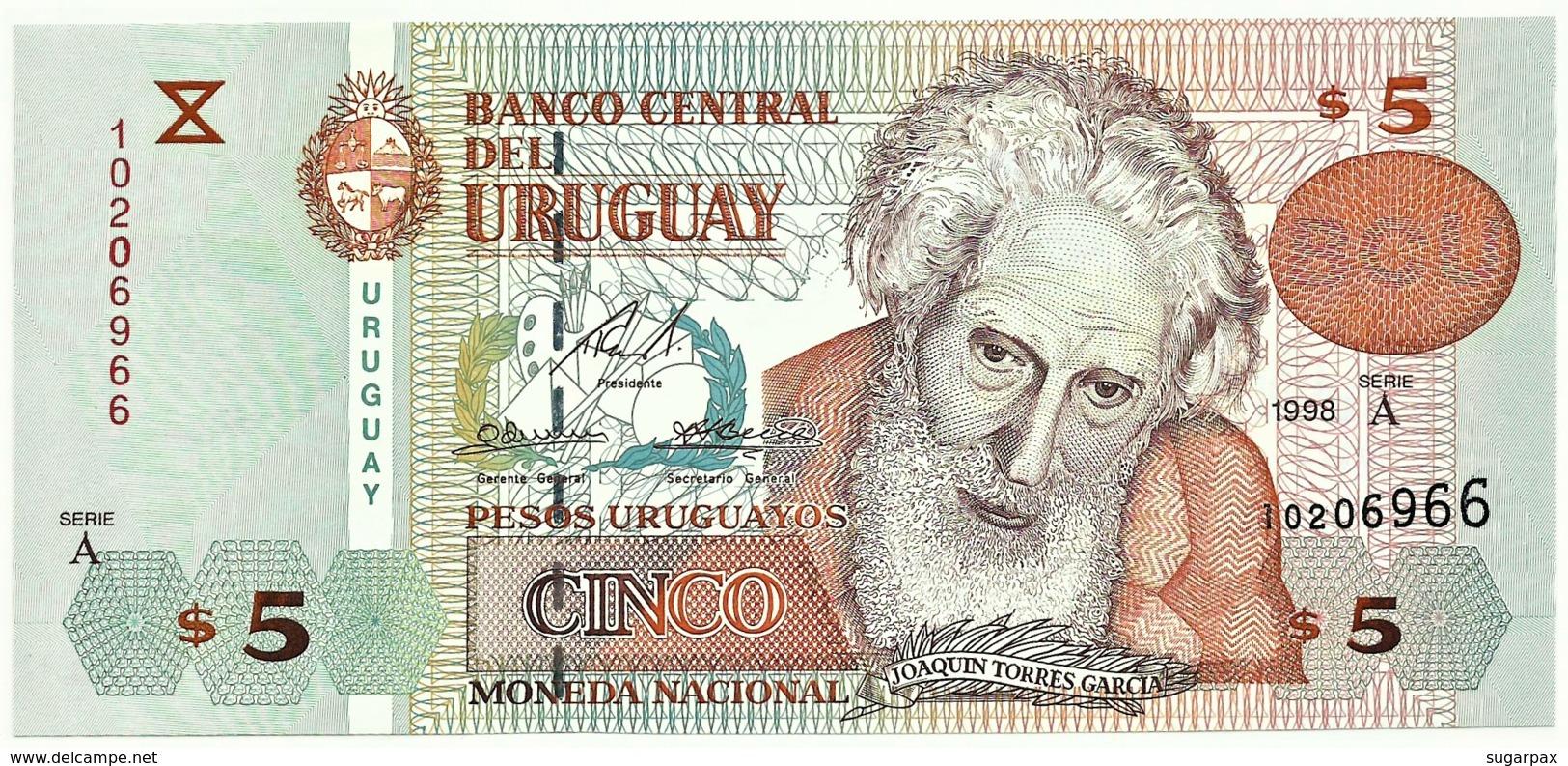 Uruguay - 5 Pesos Uruguayos - 1998 - Pick 80 - Serie A - Joaquin Torres Garcia - Uruguay