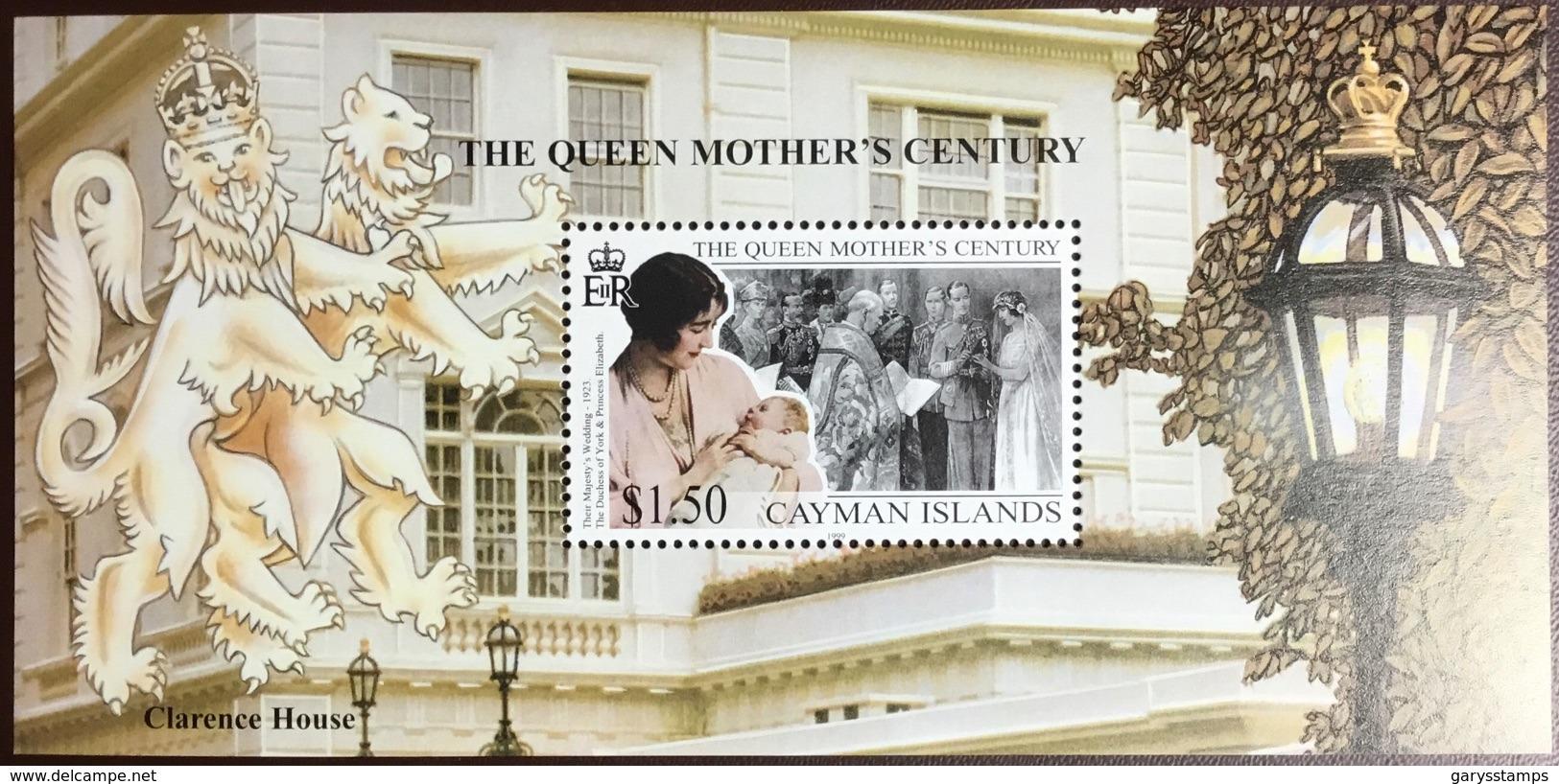 Cayman Islands 1999 Queen Mother Minisheet MNH - Cayman Islands
