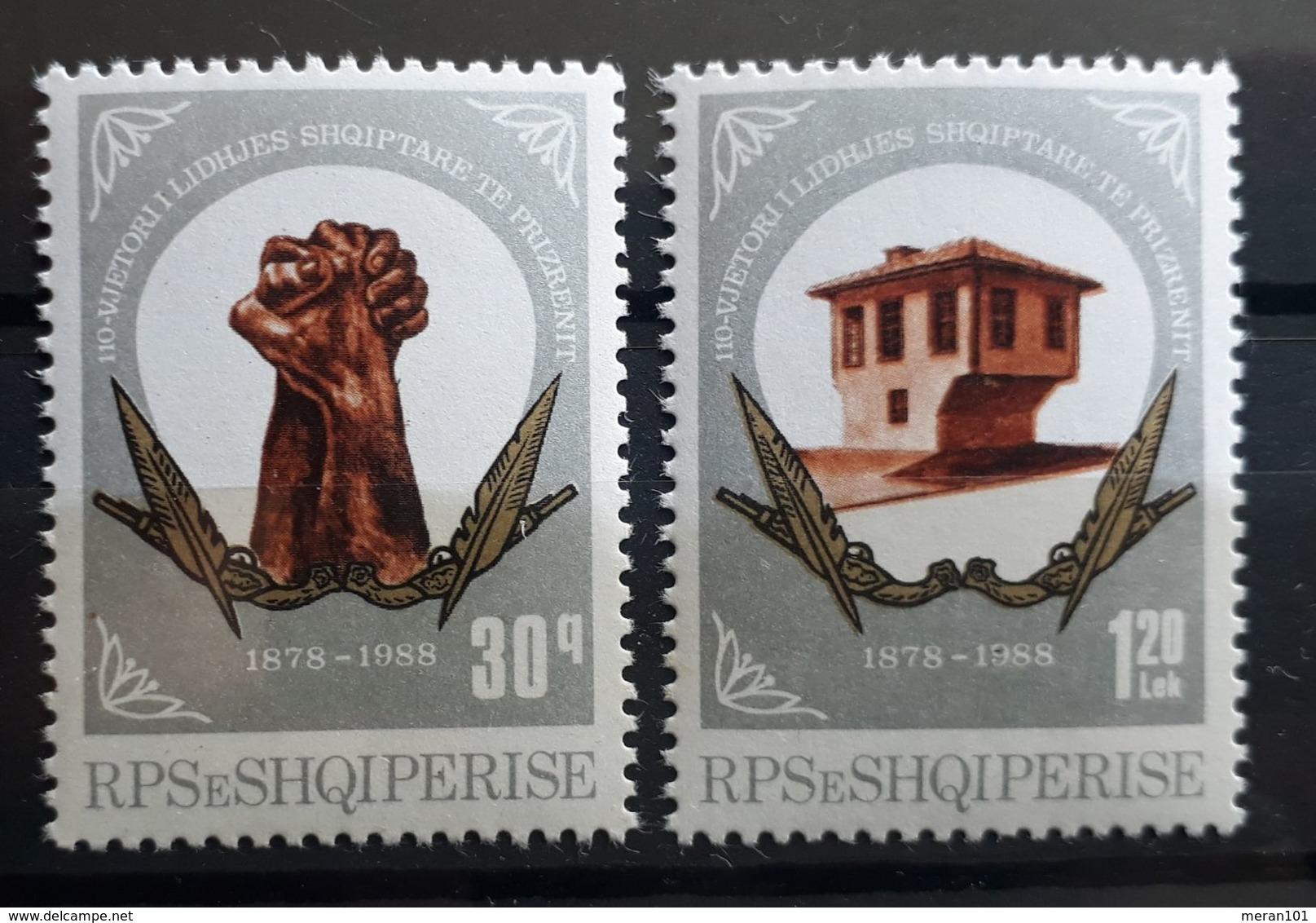 Albanien 1988, Mi 2365-66 MNH Postfrisch - Albania